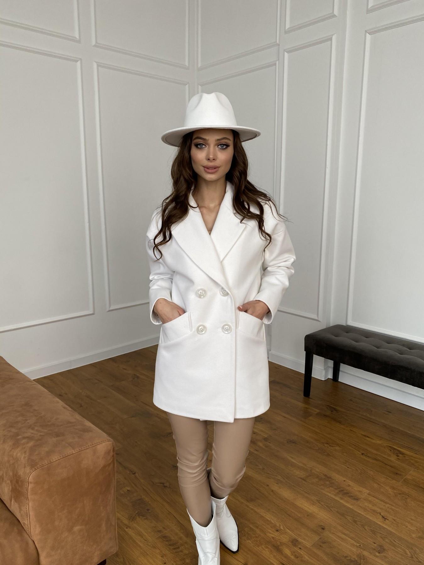 Бонд пальто из кашемира 10646 АРТ. 47495 Цвет: Молоко 1 - фото 1, интернет магазин tm-modus.ru