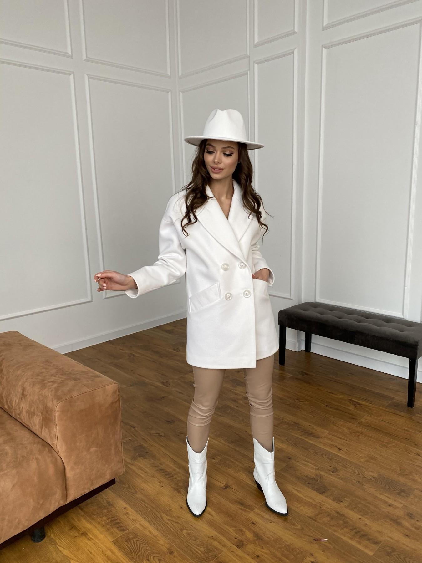 Бонд пальто из кашемира 10646 АРТ. 47495 Цвет: Молоко 1 - фото 2, интернет магазин tm-modus.ru
