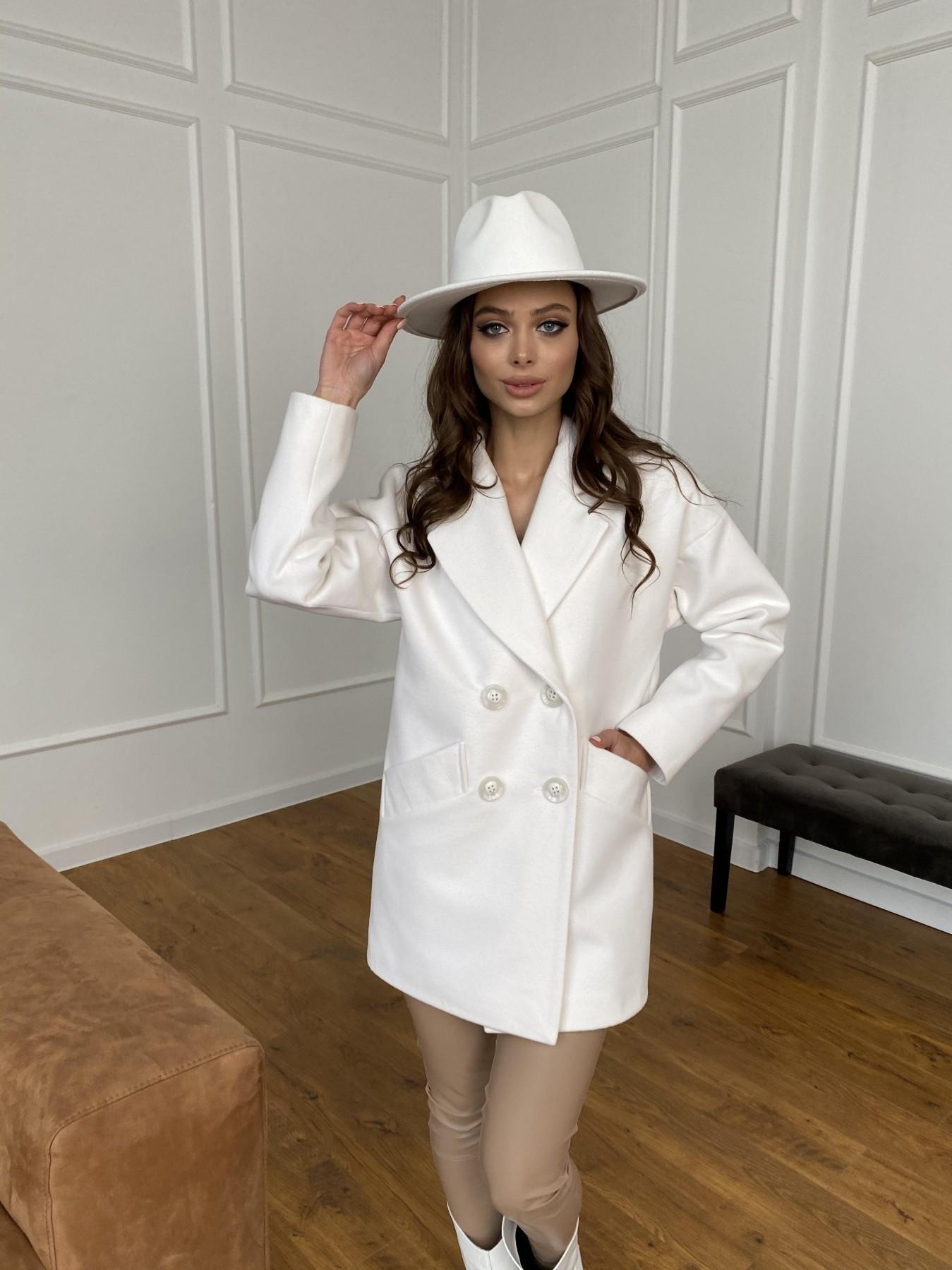 Бонд пальто из кашемира 10646 АРТ. 47495 Цвет: Молоко 1 - фото 3, интернет магазин tm-modus.ru