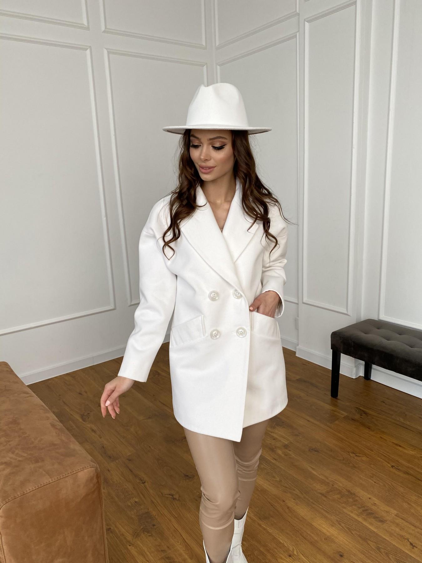 Бонд пальто из кашемира 10646 АРТ. 47495 Цвет: Молоко 1 - фото 4, интернет магазин tm-modus.ru
