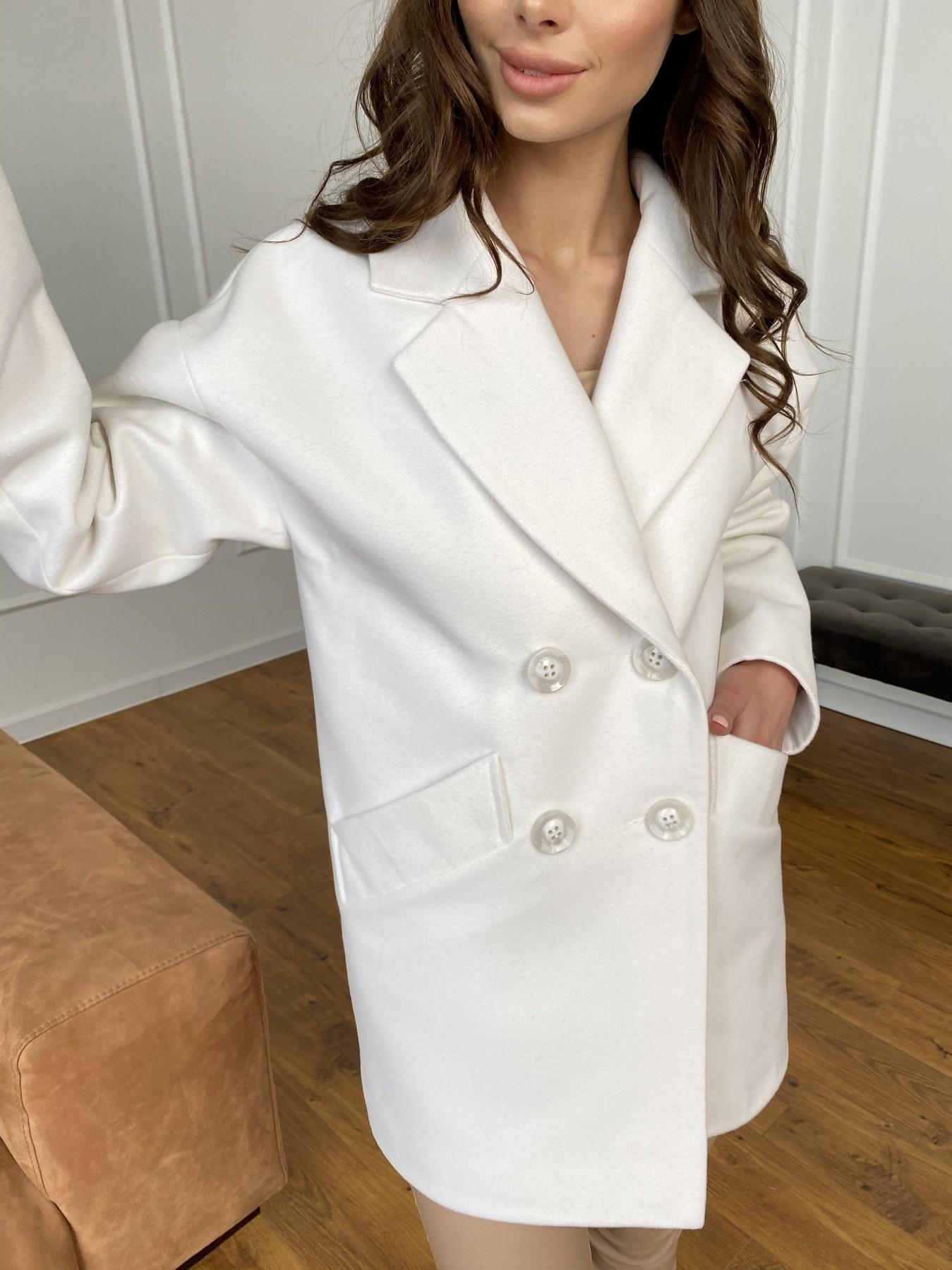 Бонд пальто из кашемира 10646 АРТ. 47495 Цвет: Молоко 1 - фото 9, интернет магазин tm-modus.ru