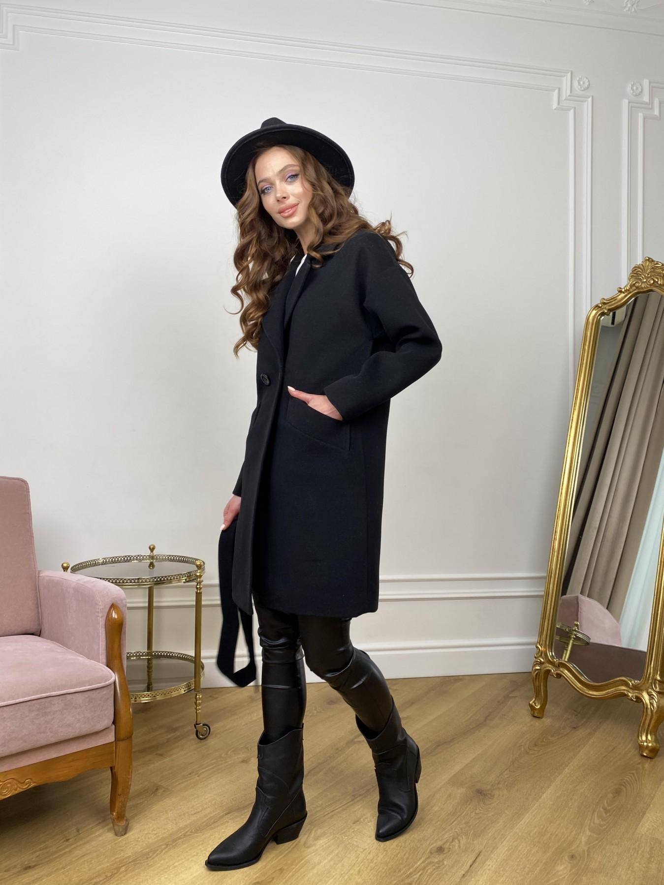 Сенсей пальто  из гладкого кашемира 10905 АРТ. 47370 Цвет: Черный - фото 4, интернет магазин tm-modus.ru