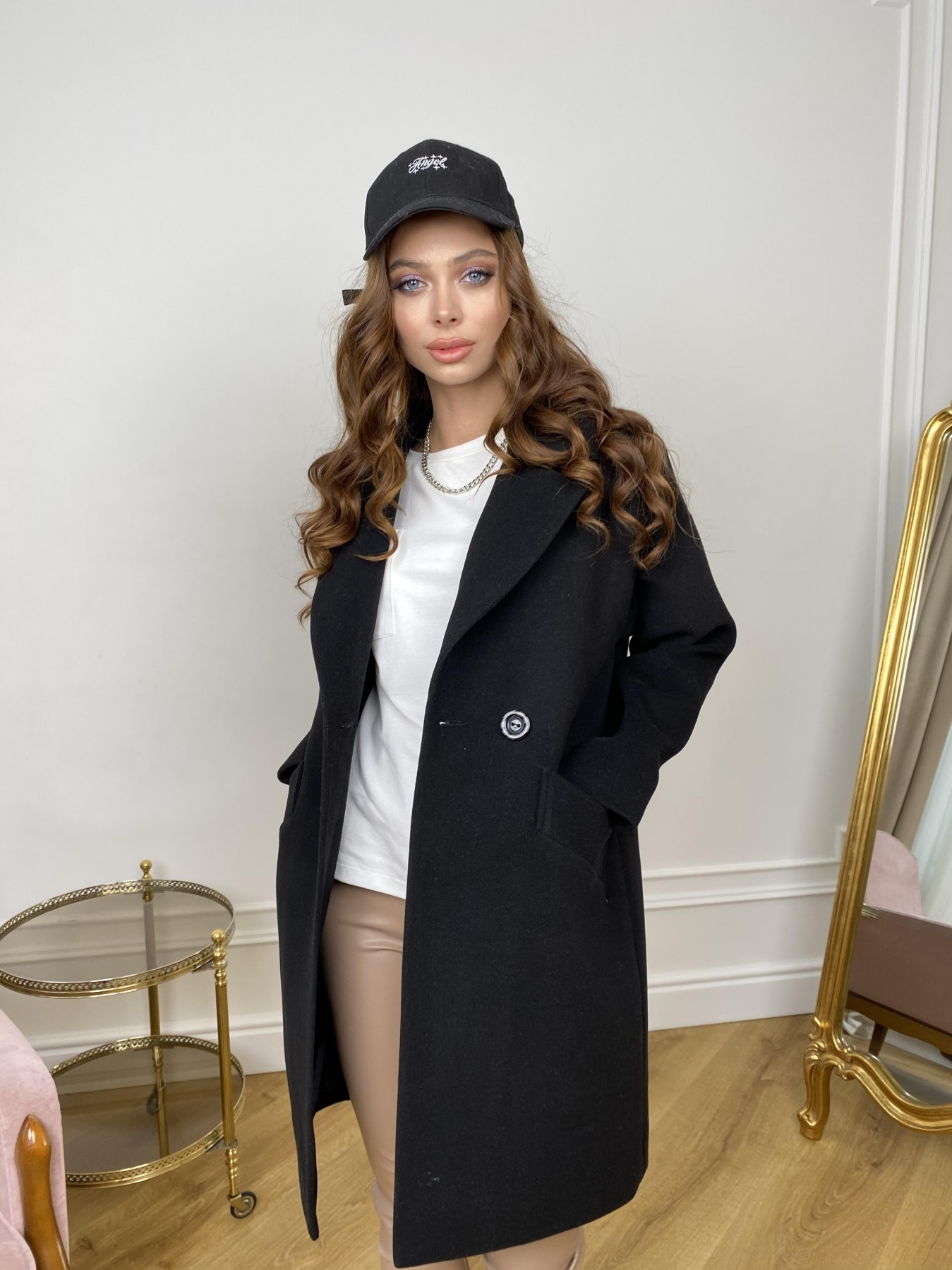 Сенсей пальто  из гладкого кашемира 10905 АРТ. 47370 Цвет: Черный - фото 7, интернет магазин tm-modus.ru