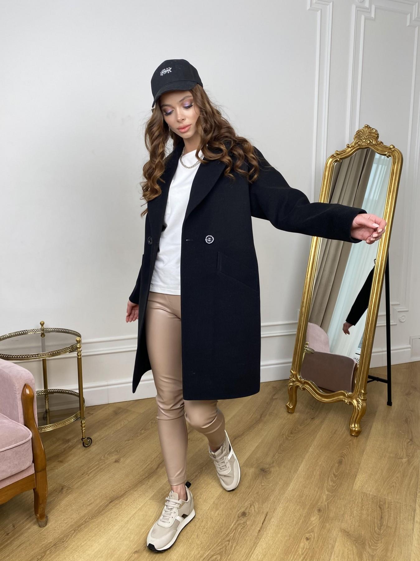 Сенсей пальто  из гладкого кашемира 10905 АРТ. 47370 Цвет: Черный - фото 9, интернет магазин tm-modus.ru