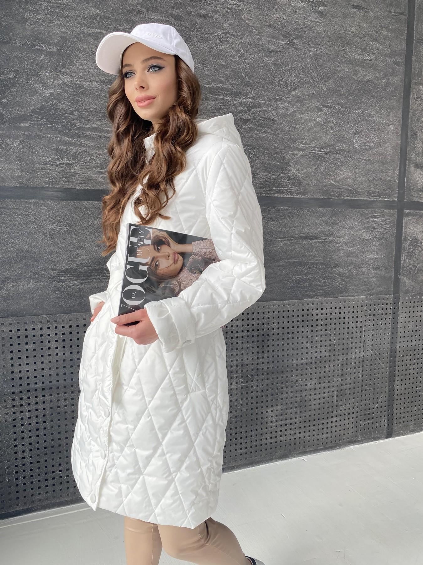 Виза стеганая куртка из плащевой ткани 11015 АРТ. 47516 Цвет: Молоко - фото 1, интернет магазин tm-modus.ru