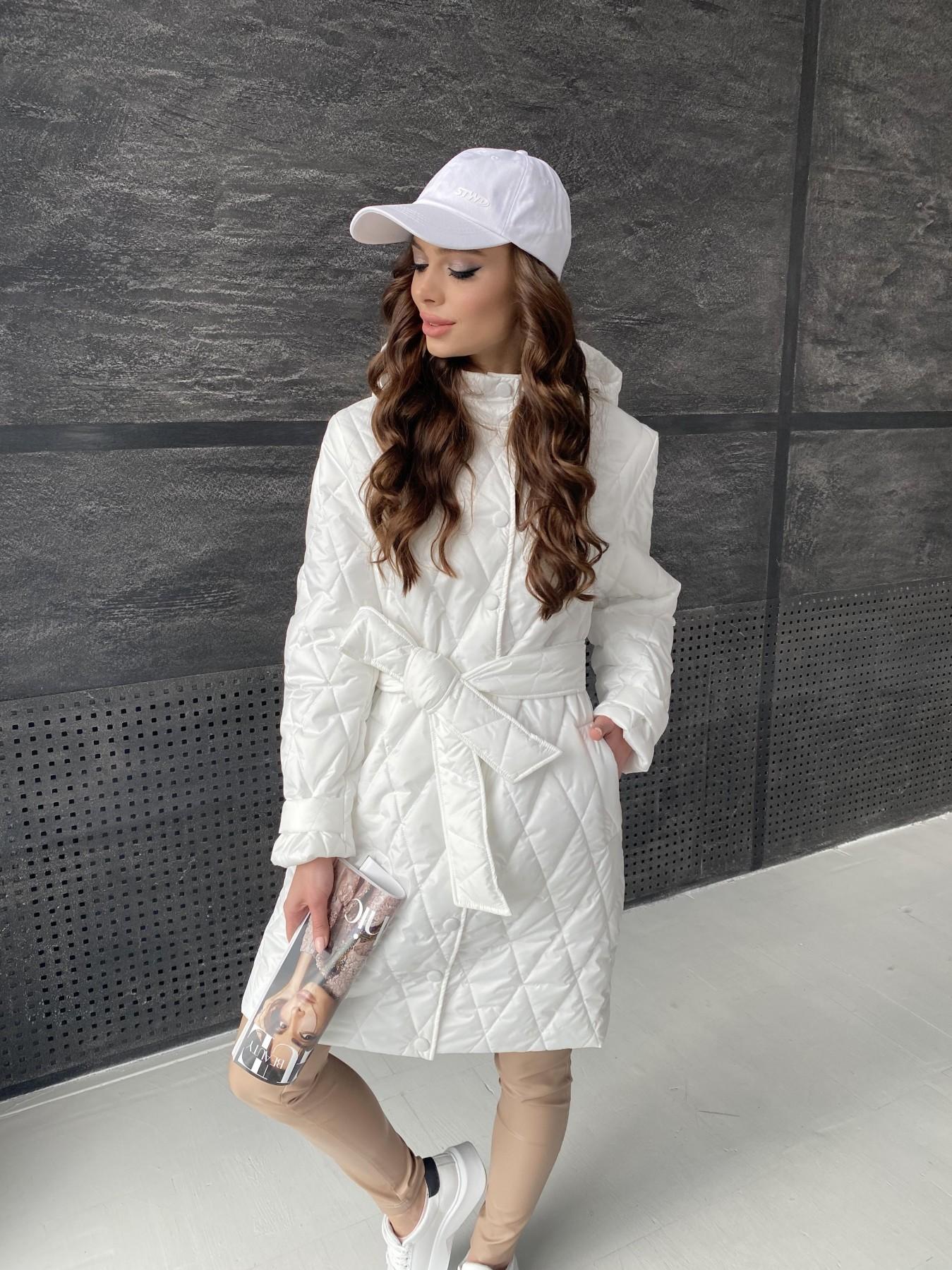 Виза стеганая куртка из плащевой ткани 11015 АРТ. 47516 Цвет: Молоко - фото 2, интернет магазин tm-modus.ru