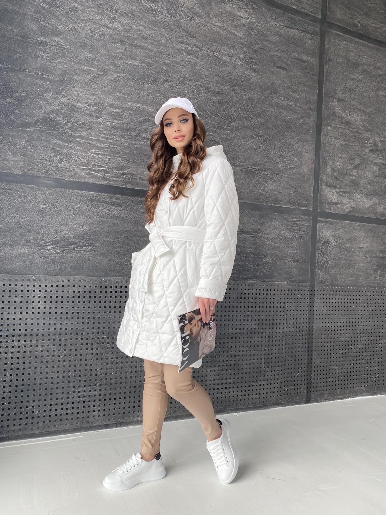 Виза стеганая куртка из плащевой ткани 11015 АРТ. 47516 Цвет: Молоко - фото 4, интернет магазин tm-modus.ru