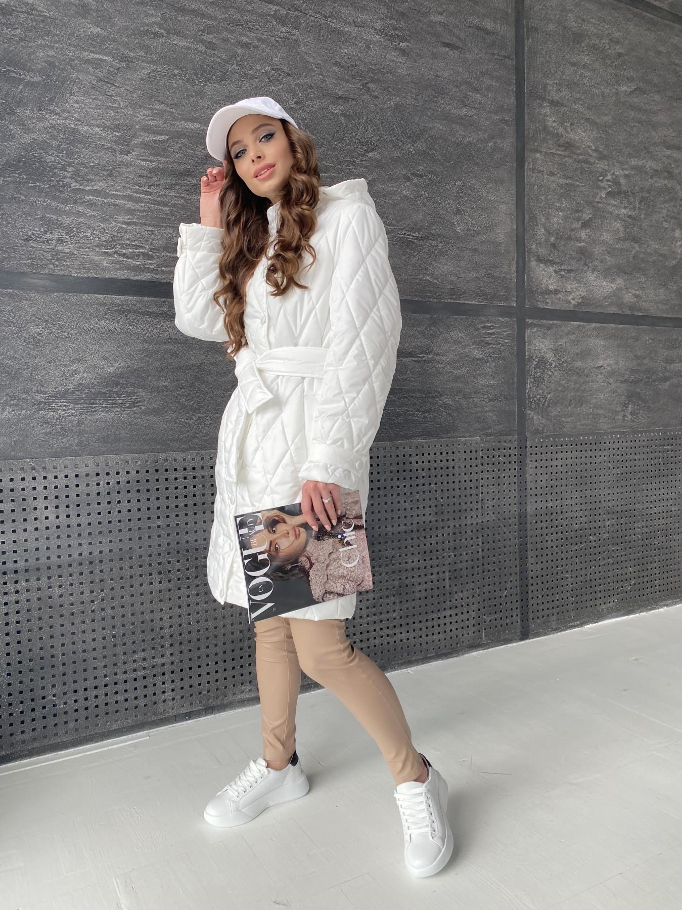 Виза стеганая куртка из плащевой ткани 11015 АРТ. 47516 Цвет: Молоко - фото 5, интернет магазин tm-modus.ru