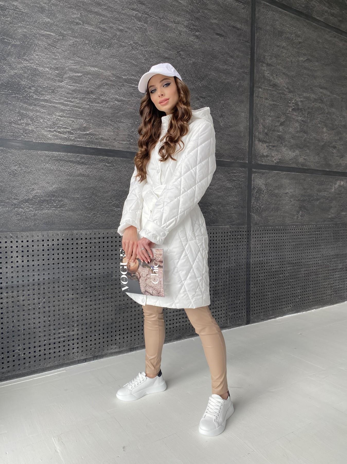 Виза стеганая куртка из плащевой ткани 11015 АРТ. 47516 Цвет: Молоко - фото 6, интернет магазин tm-modus.ru