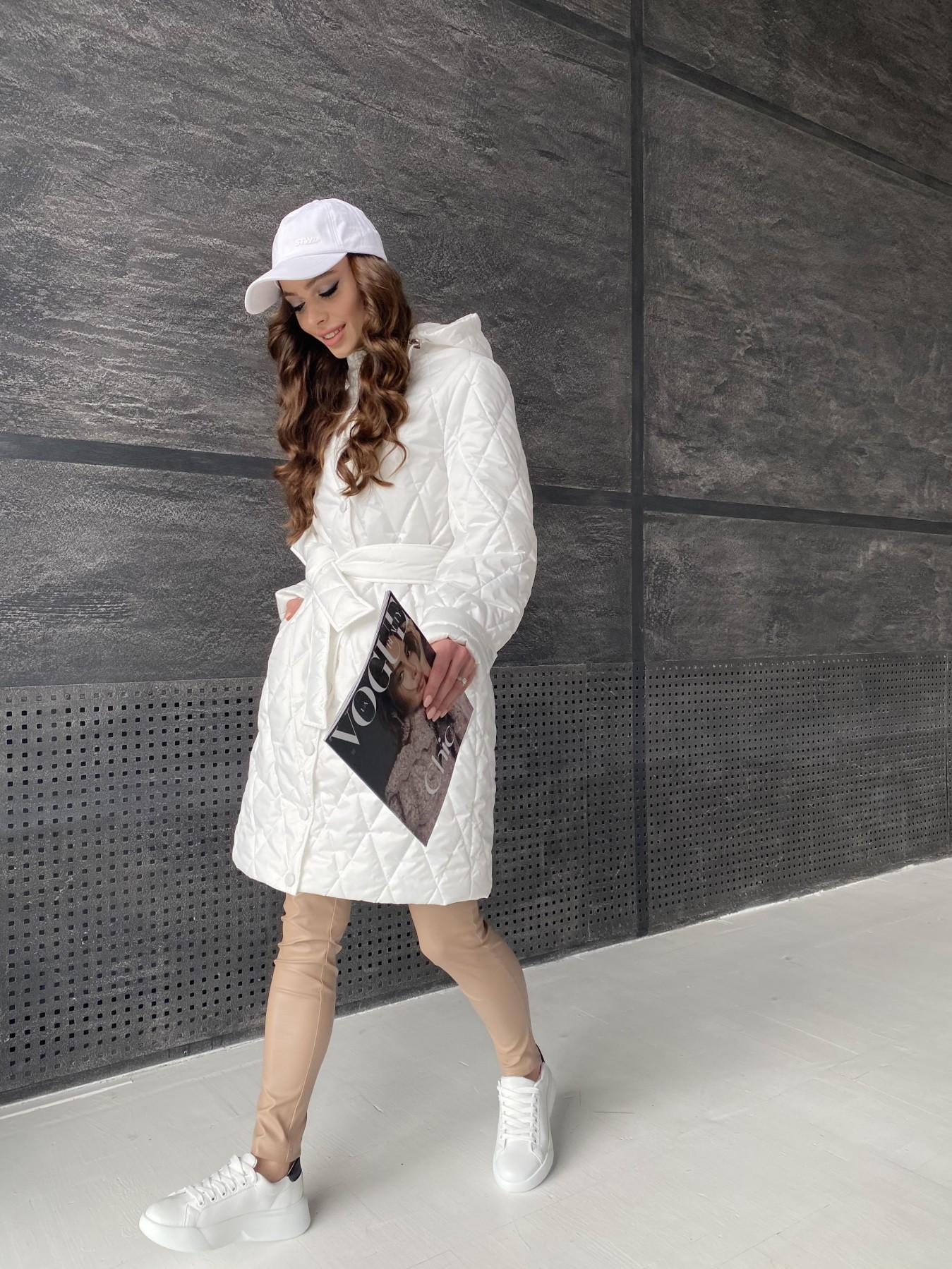 Виза стеганая куртка из плащевой ткани 11015 АРТ. 47516 Цвет: Молоко - фото 7, интернет магазин tm-modus.ru
