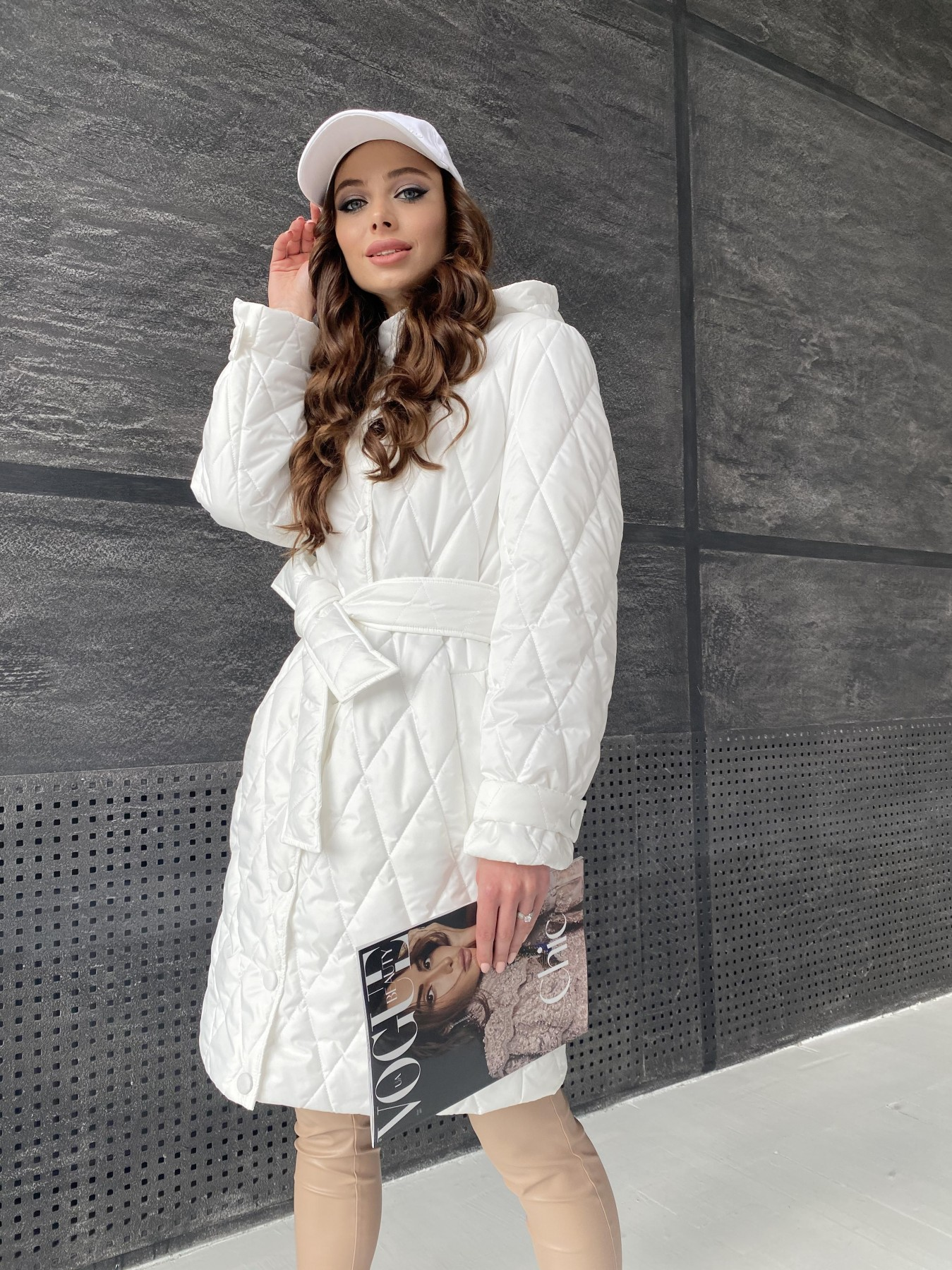 куртка пуховик женская Виза стеганая куртка из плащевой ткани 11015