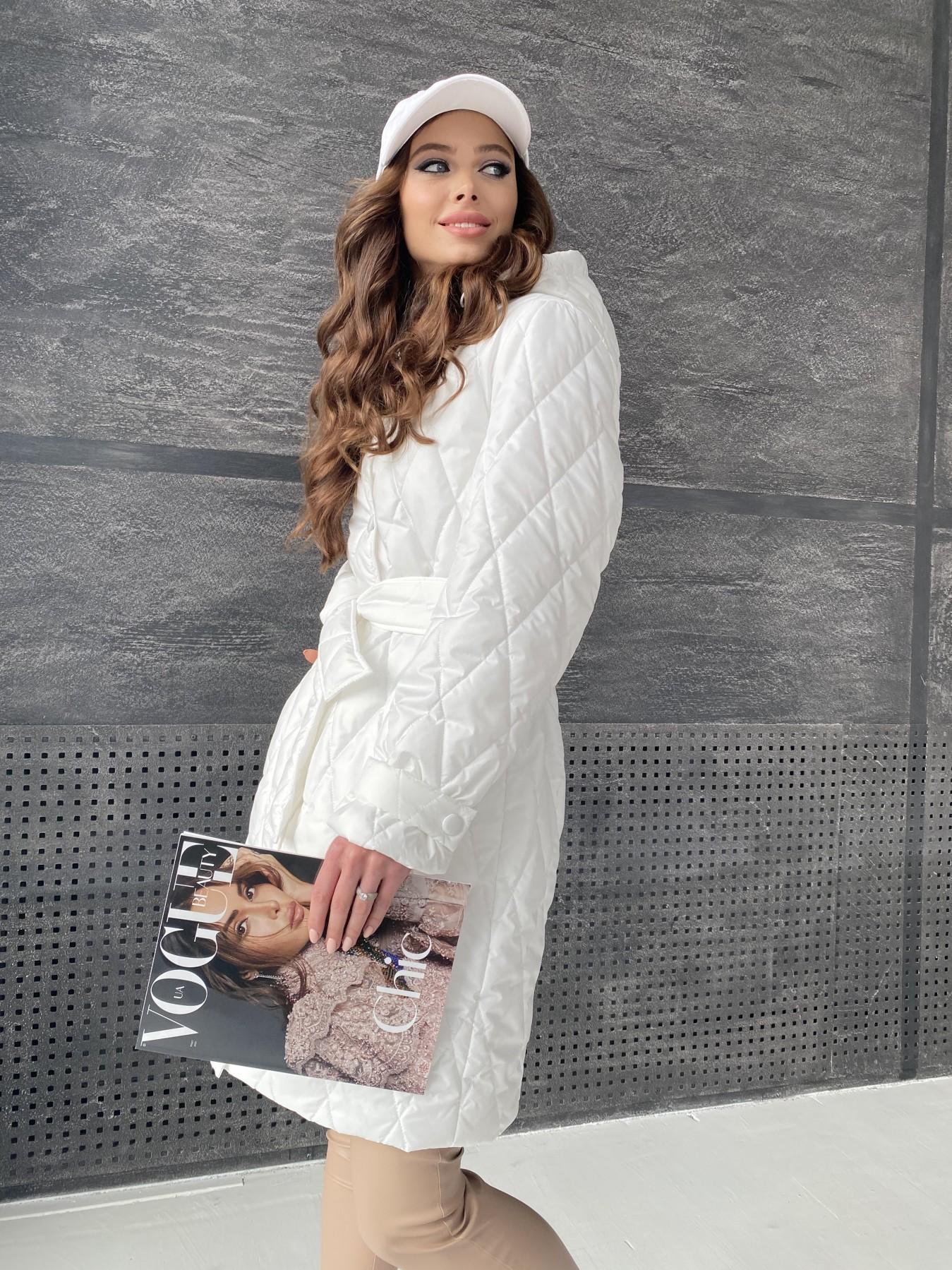 Виза стеганая куртка из плащевой ткани 11015 АРТ. 47516 Цвет: Молоко - фото 9, интернет магазин tm-modus.ru