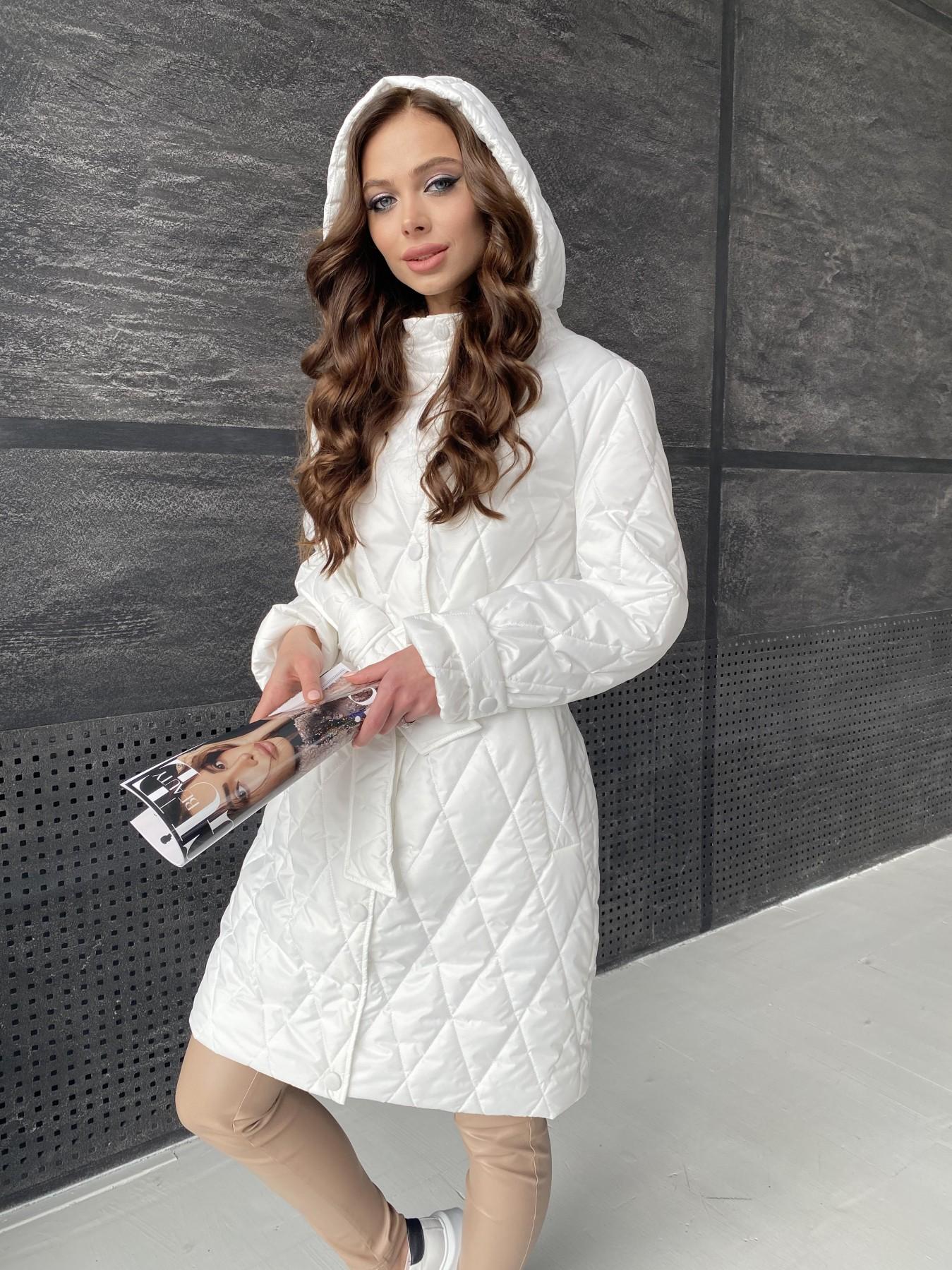 Виза стеганая куртка из плащевой ткани 11015 АРТ. 47516 Цвет: Молоко - фото 11, интернет магазин tm-modus.ru