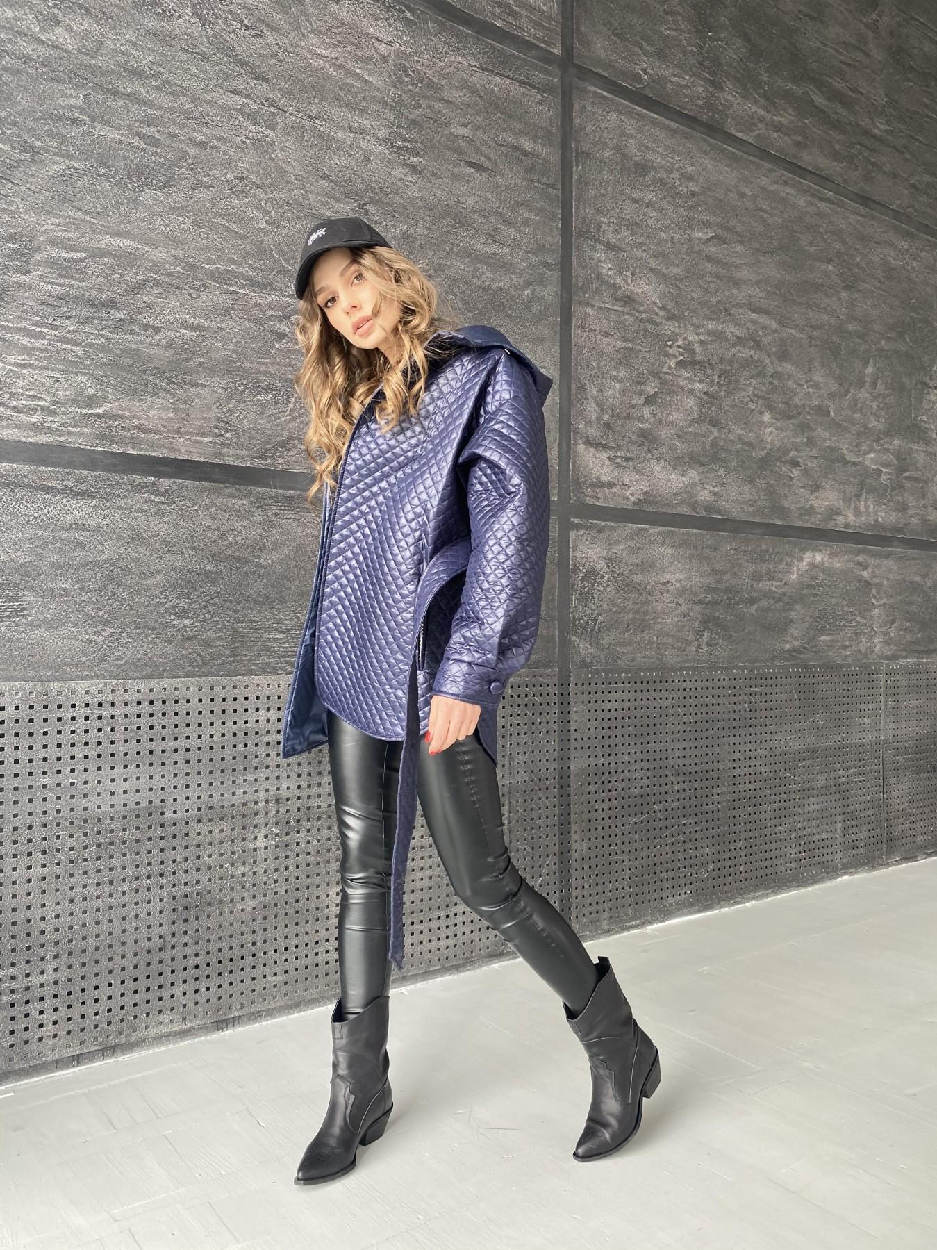 Пазл стеганая куртка из плащевой ткани  10933 АРТ. 47513 Цвет: Т.синий - фото 5, интернет магазин tm-modus.ru