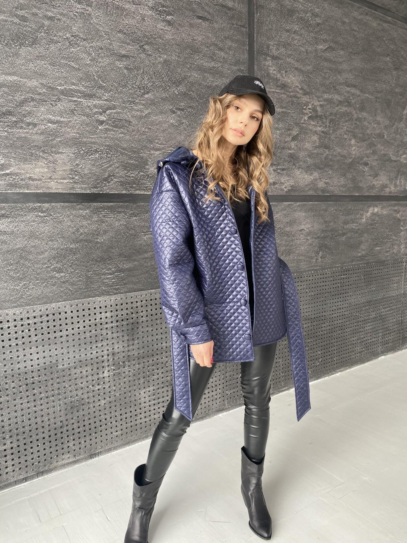 Пазл стеганая куртка из плащевой ткани  10933 АРТ. 47513 Цвет: Т.синий - фото 6, интернет магазин tm-modus.ru
