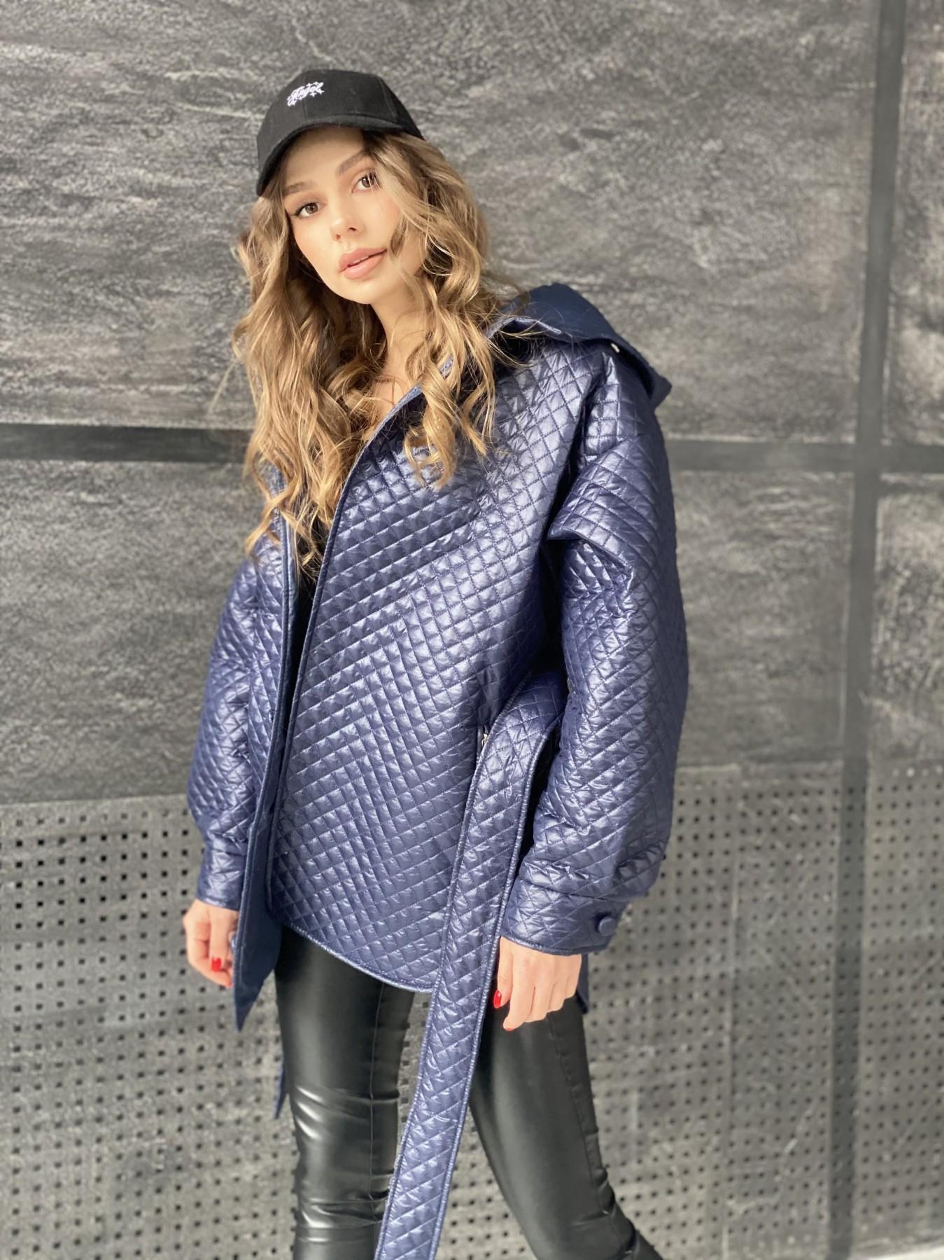 Пазл стеганая куртка из плащевой ткани  10933 АРТ. 47513 Цвет: Т.синий - фото 7, интернет магазин tm-modus.ru