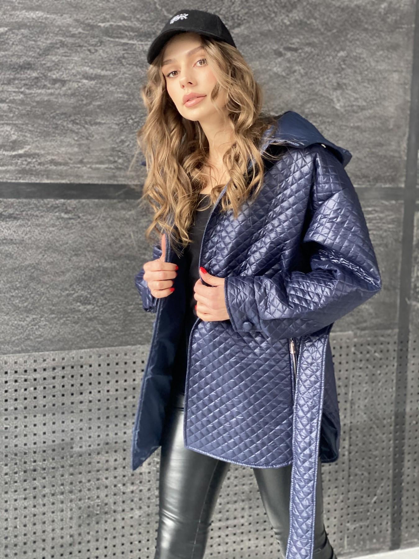 Пазл стеганая куртка из плащевой ткани  10933 АРТ. 47513 Цвет: Т.синий - фото 8, интернет магазин tm-modus.ru