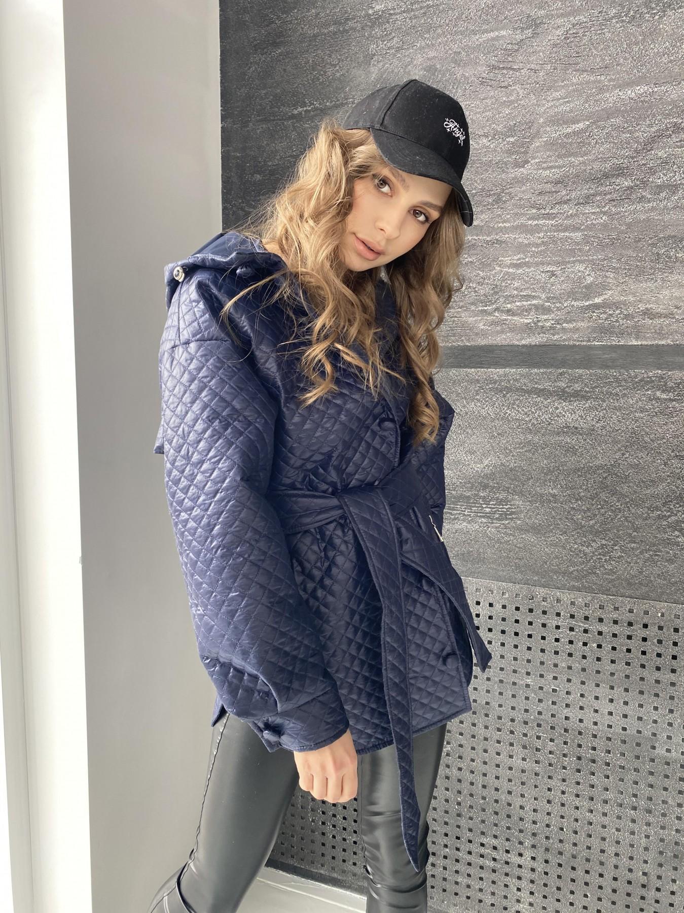 Пазл стеганая куртка из плащевой ткани  10933 АРТ. 47513 Цвет: Т.синий - фото 11, интернет магазин tm-modus.ru