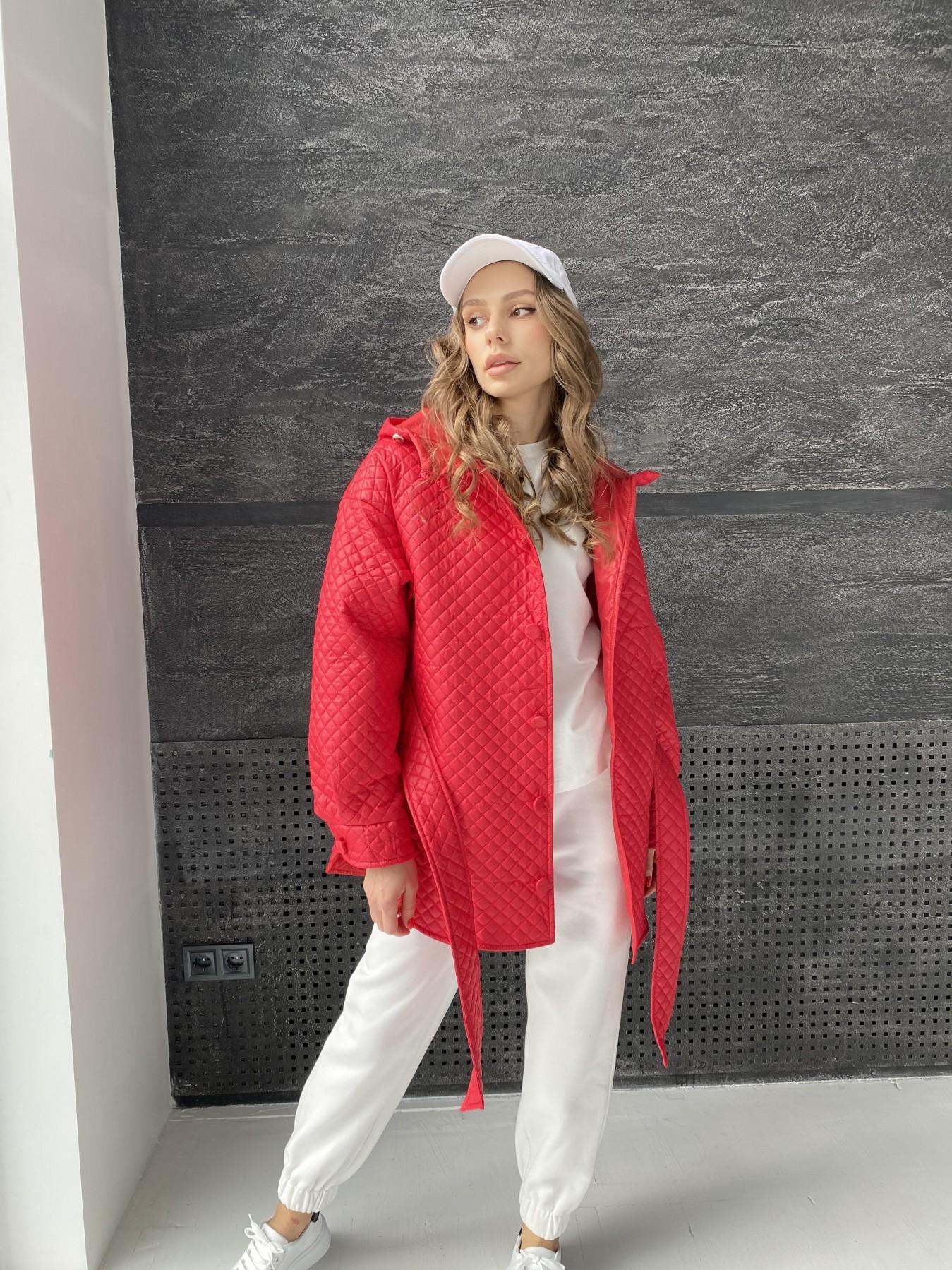 Пазл стеганая куртка из плащевой ткани  10933 АРТ. 47511 Цвет: Красный - фото 1, интернет магазин tm-modus.ru