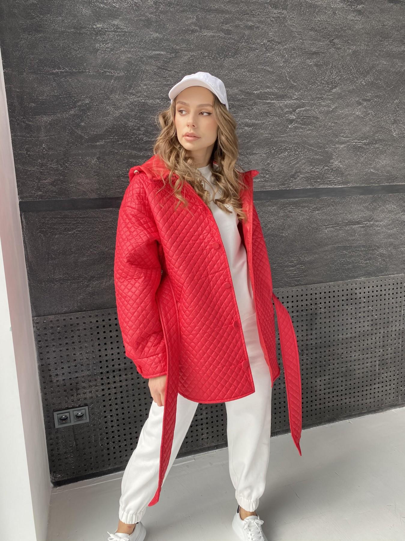 Пазл стеганая куртка из плащевой ткани  10933 АРТ. 47511 Цвет: Красный - фото 2, интернет магазин tm-modus.ru
