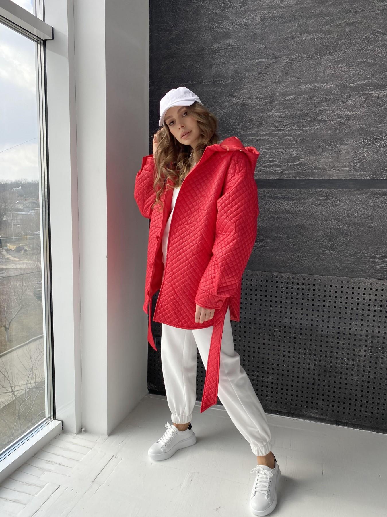 Пазл стеганая куртка из плащевой ткани  10933 АРТ. 47511 Цвет: Красный - фото 3, интернет магазин tm-modus.ru