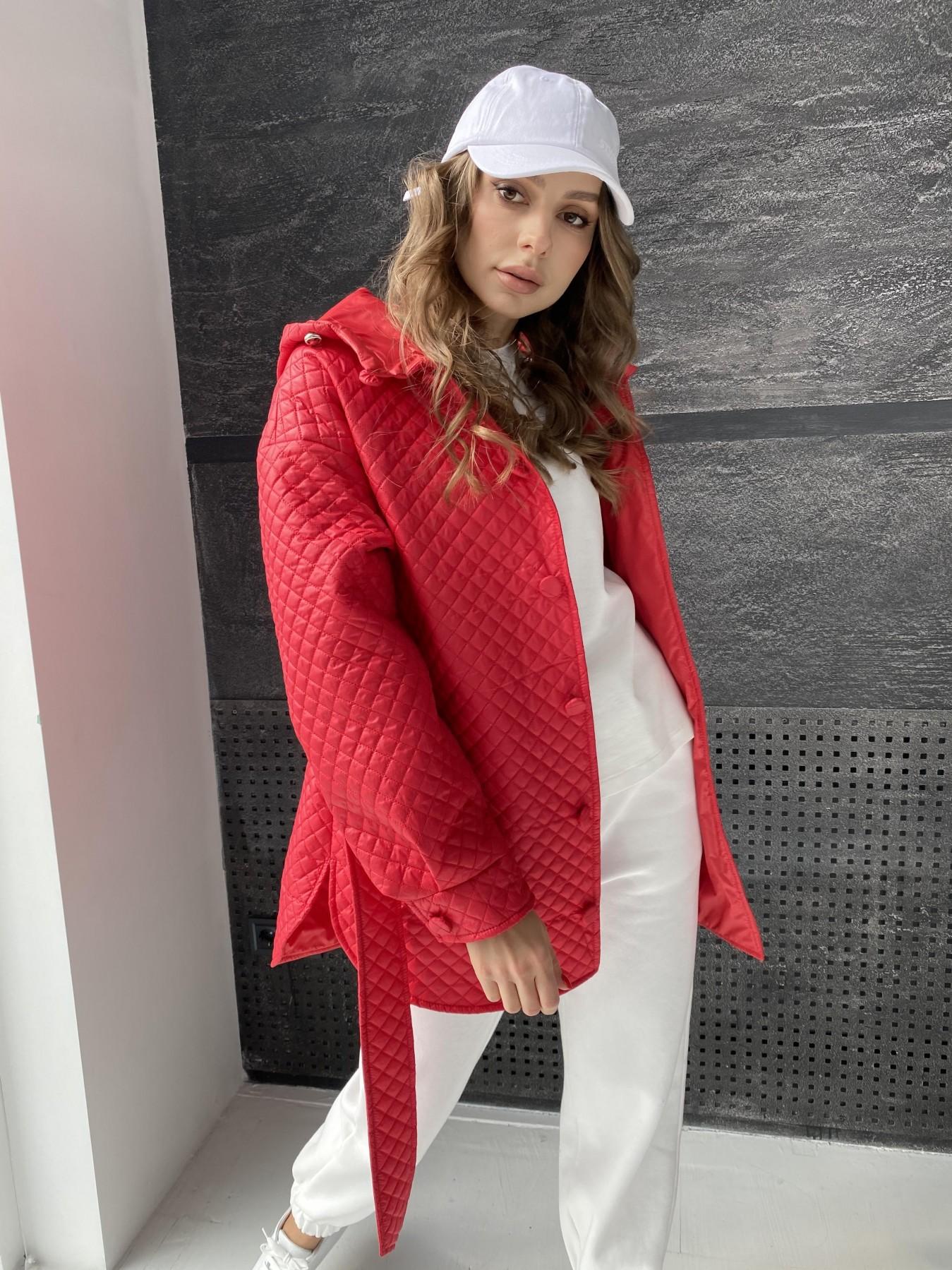 Пазл стеганая куртка из плащевой ткани  10933 АРТ. 47511 Цвет: Красный - фото 4, интернет магазин tm-modus.ru