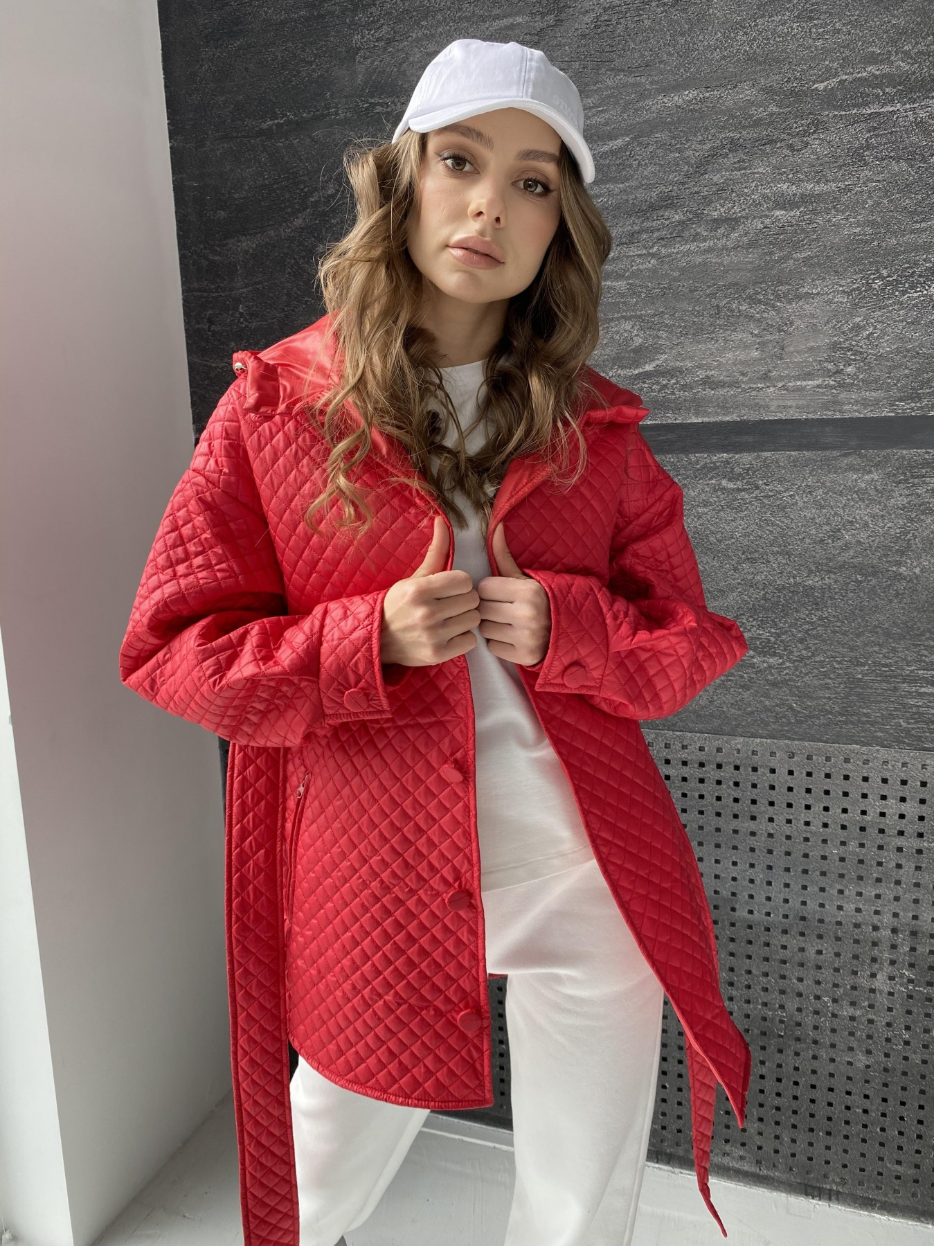Пазл стеганая куртка из плащевой ткани  10933 АРТ. 47511 Цвет: Красный - фото 5, интернет магазин tm-modus.ru