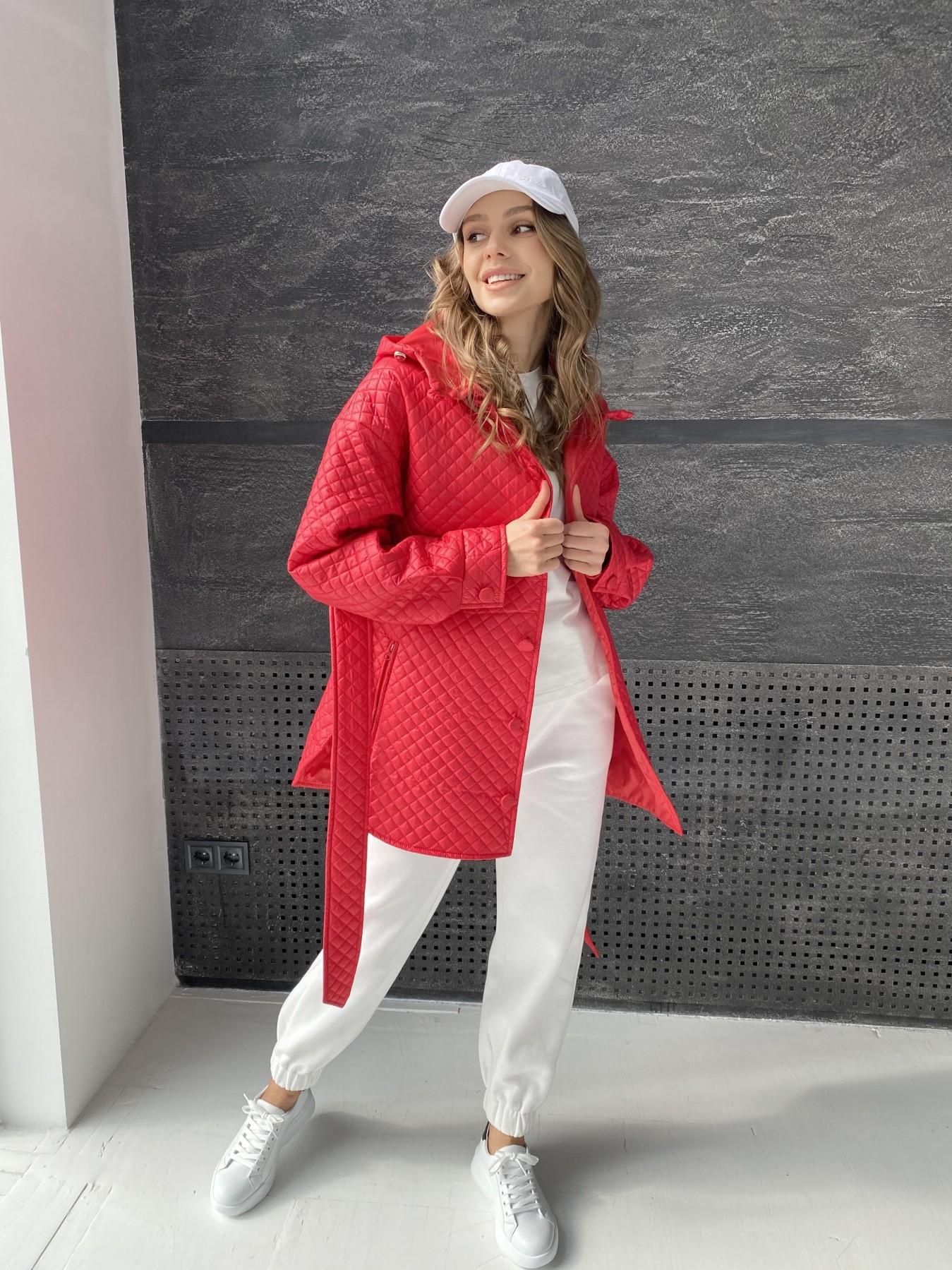 Пазл стеганая куртка из плащевой ткани  10933 АРТ. 47511 Цвет: Красный - фото 6, интернет магазин tm-modus.ru