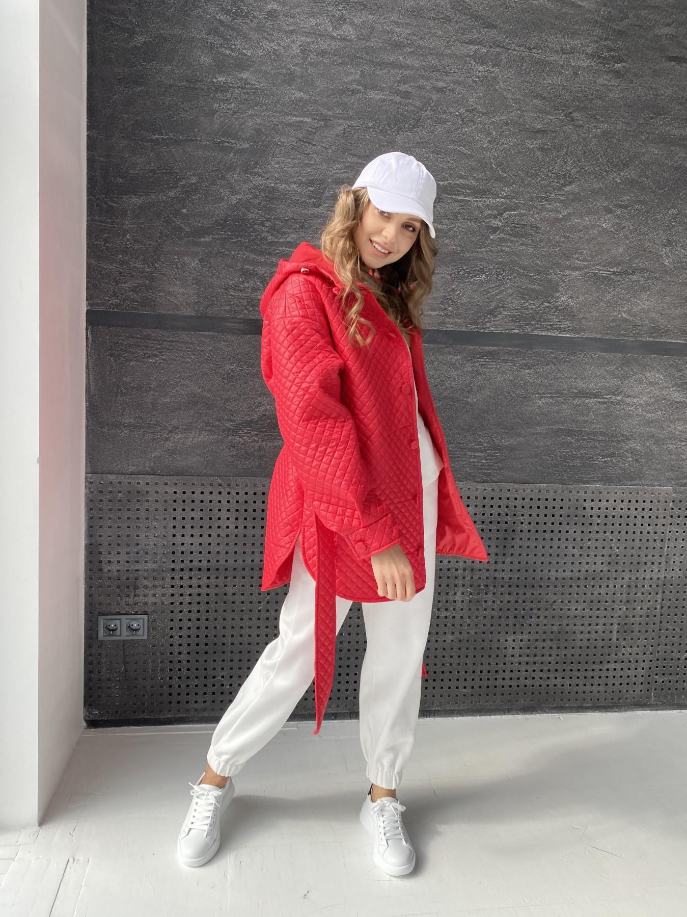 Пазл стеганая куртка из плащевой ткани  10933 АРТ. 47511 Цвет: Красный - фото 7, интернет магазин tm-modus.ru