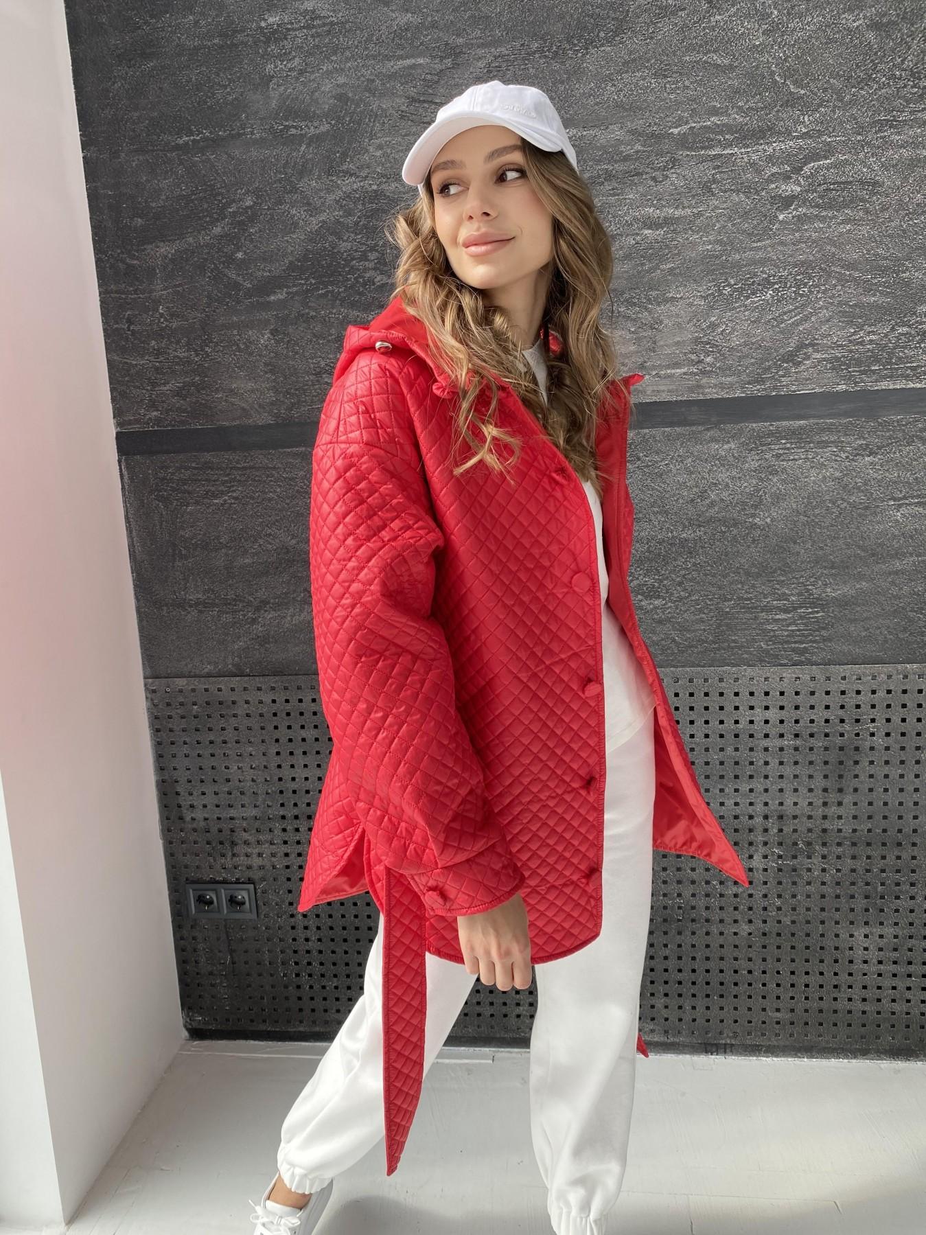Пазл стеганая куртка из плащевой ткани  10933 АРТ. 47511 Цвет: Красный - фото 8, интернет магазин tm-modus.ru