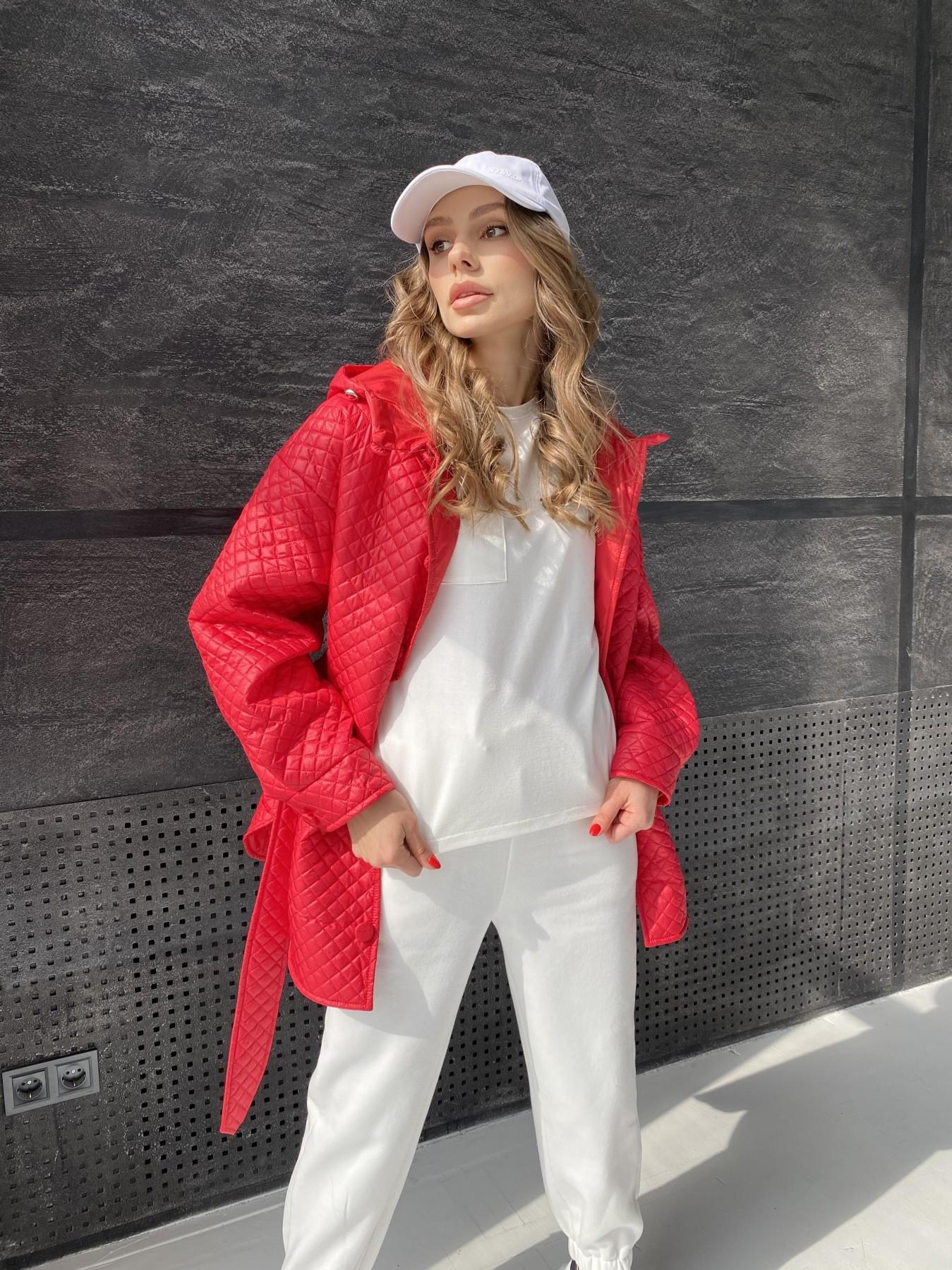 Пазл стеганая куртка из плащевой ткани  10933 АРТ. 47511 Цвет: Красный - фото 10, интернет магазин tm-modus.ru