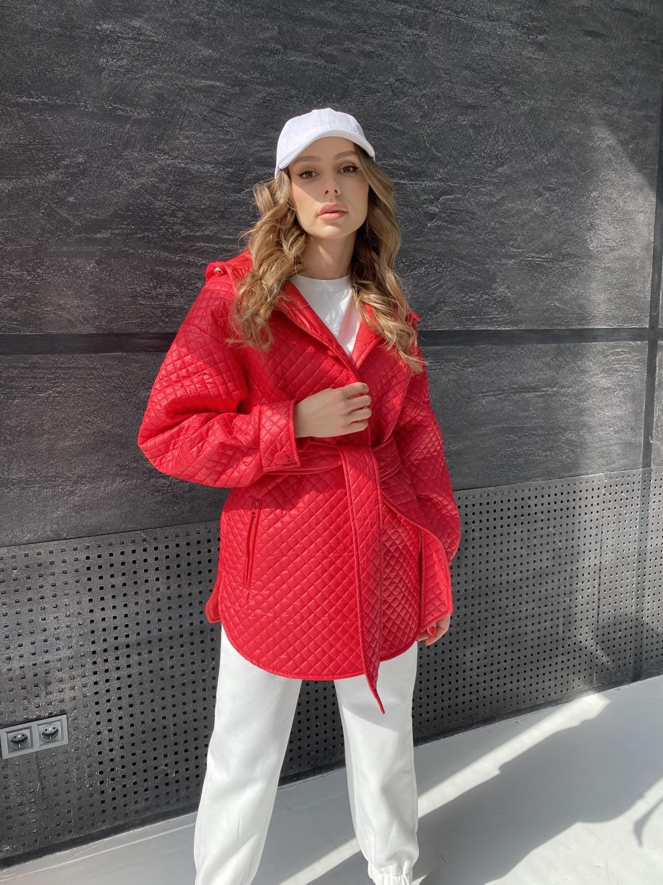 Пазл стеганая куртка из плащевой ткани  10933 АРТ. 47511 Цвет: Красный - фото 11, интернет магазин tm-modus.ru