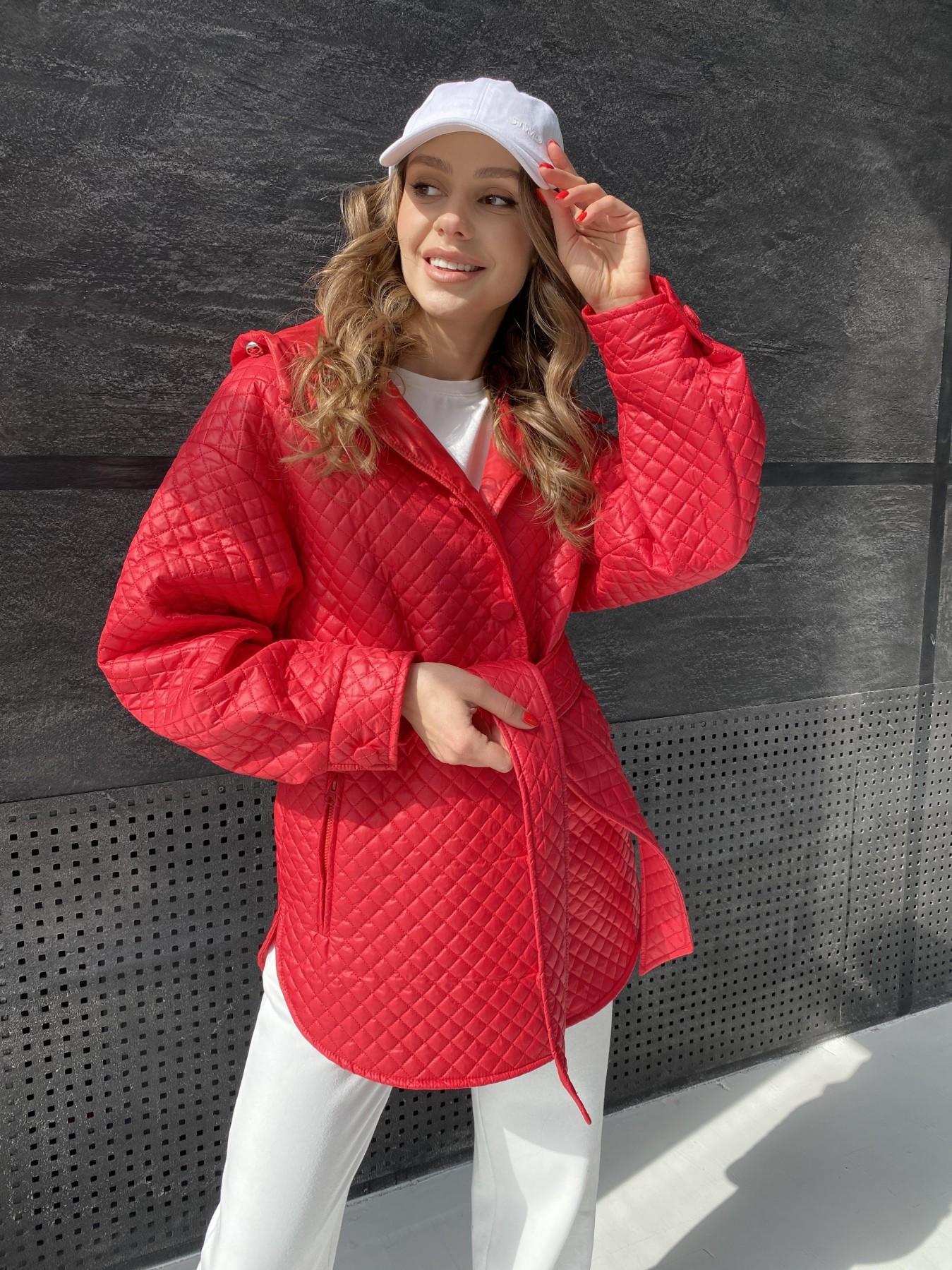 женские куртки оптом Пазл стеганая куртка из плащевой ткани  10933