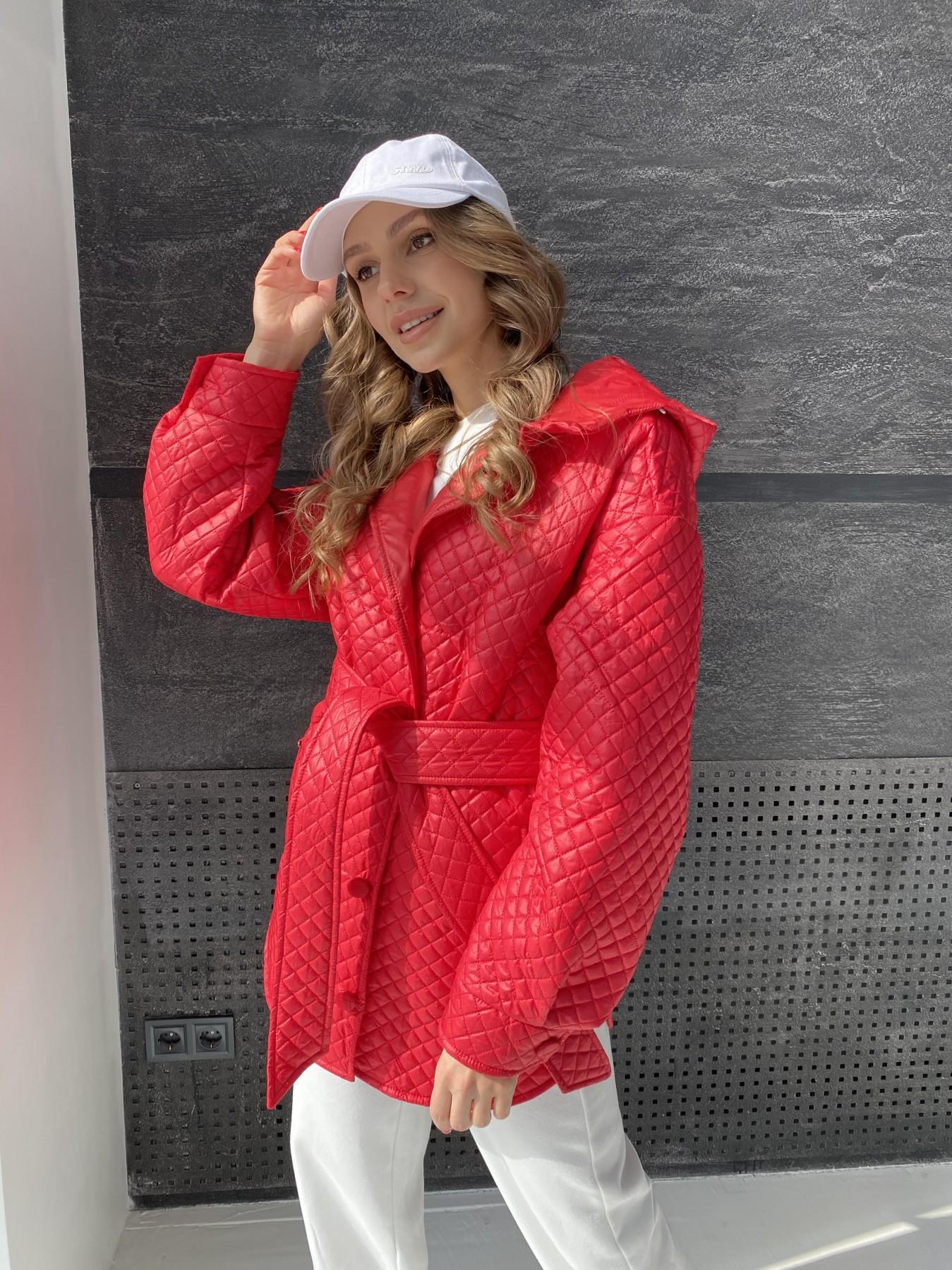 Пазл стеганая куртка из плащевой ткани  10933 АРТ. 47511 Цвет: Красный - фото 13, интернет магазин tm-modus.ru