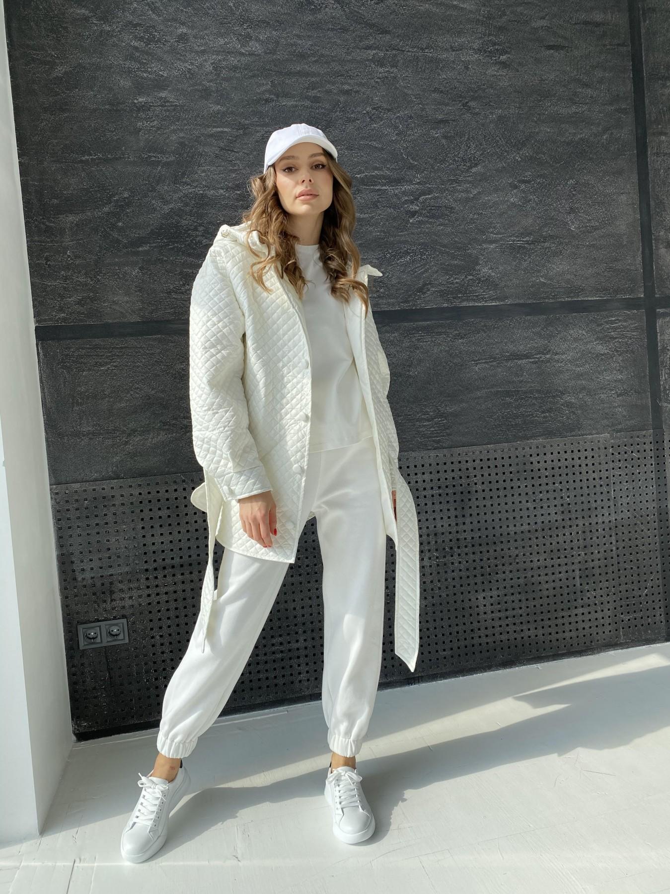 Пазл стеганая куртка из плащевой ткани  10933 АРТ. 47512 Цвет: Молоко - фото 1, интернет магазин tm-modus.ru