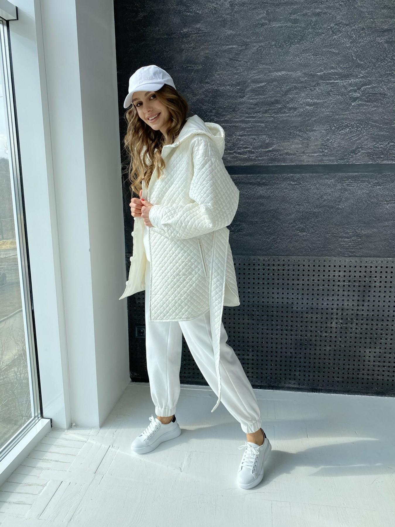 Пазл стеганая куртка из плащевой ткани  10933 АРТ. 47512 Цвет: Молоко - фото 2, интернет магазин tm-modus.ru