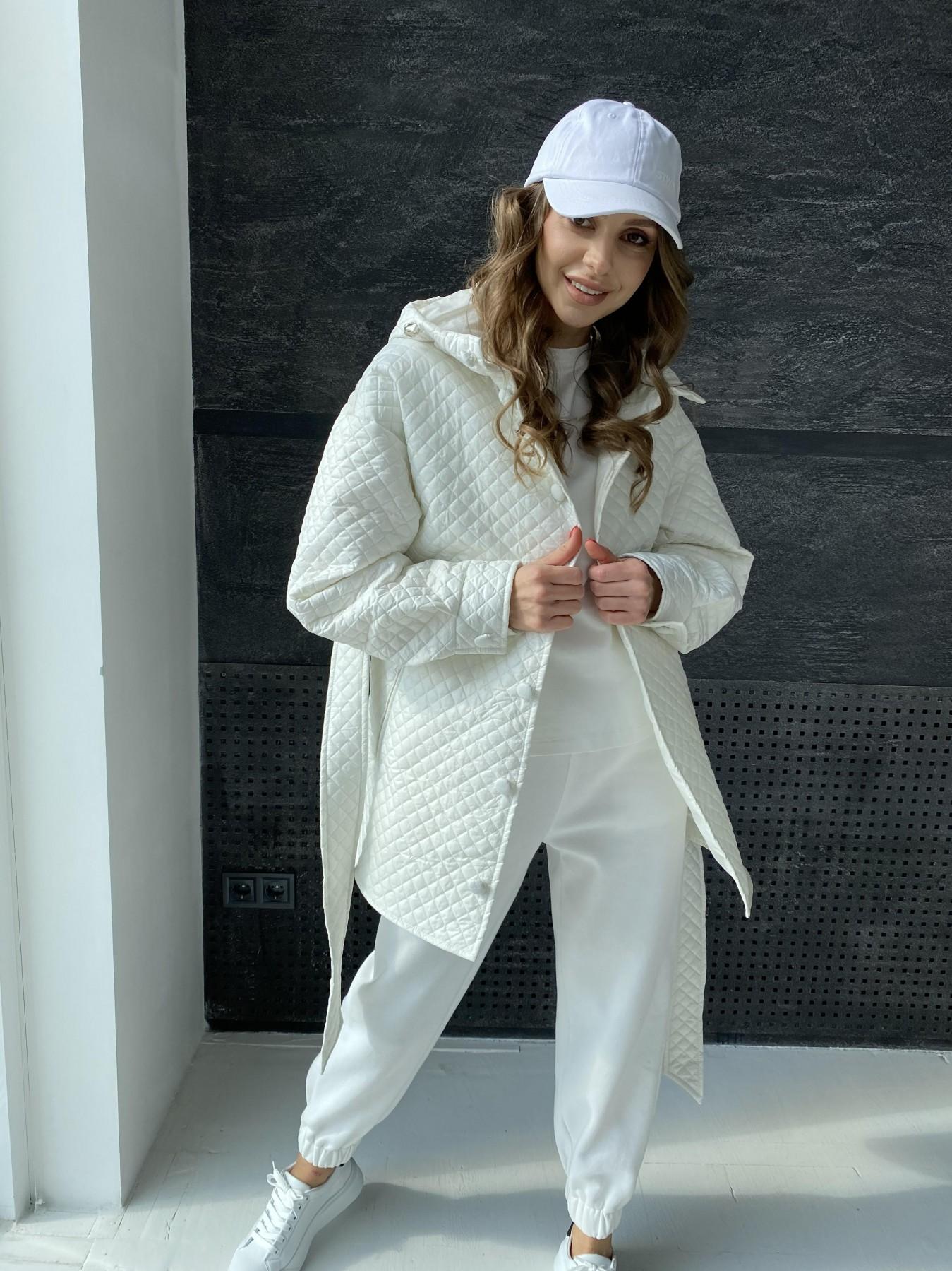 Пазл стеганая куртка из плащевой ткани  10933 АРТ. 47512 Цвет: Молоко - фото 3, интернет магазин tm-modus.ru
