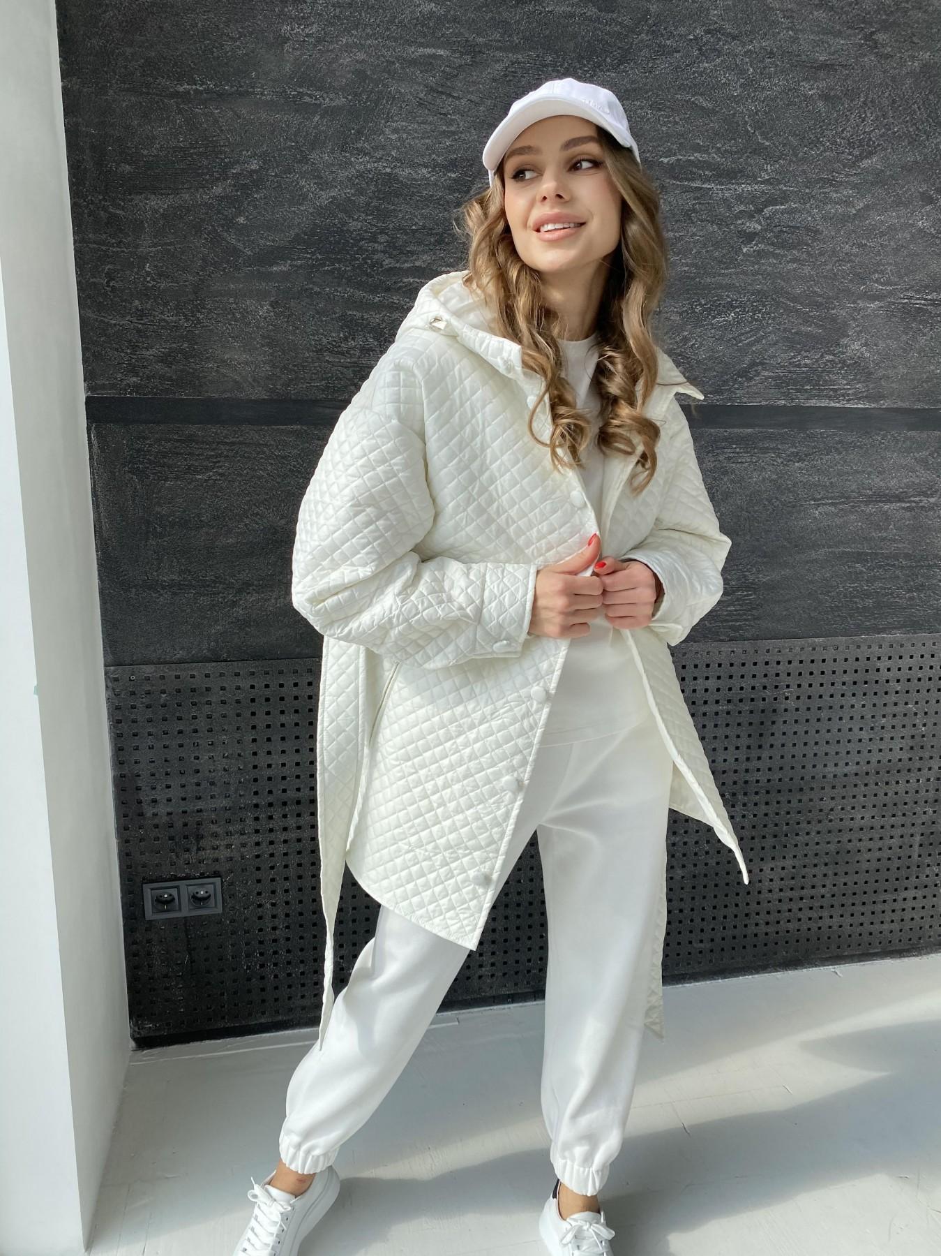 Пазл стеганая куртка из плащевой ткани  10933 АРТ. 47512 Цвет: Молоко - фото 4, интернет магазин tm-modus.ru