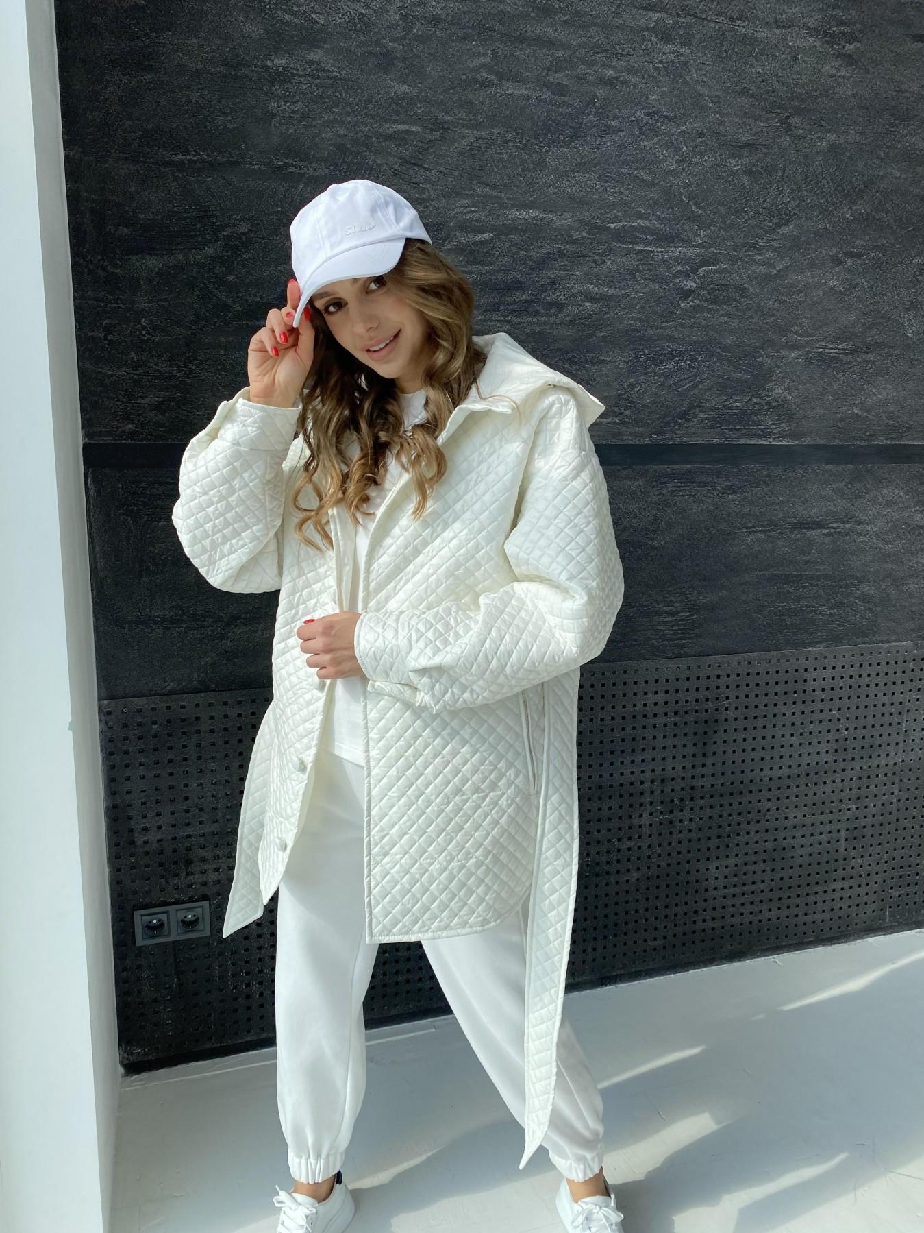 Пазл стеганая куртка из плащевой ткани  10933 АРТ. 47512 Цвет: Молоко - фото 5, интернет магазин tm-modus.ru