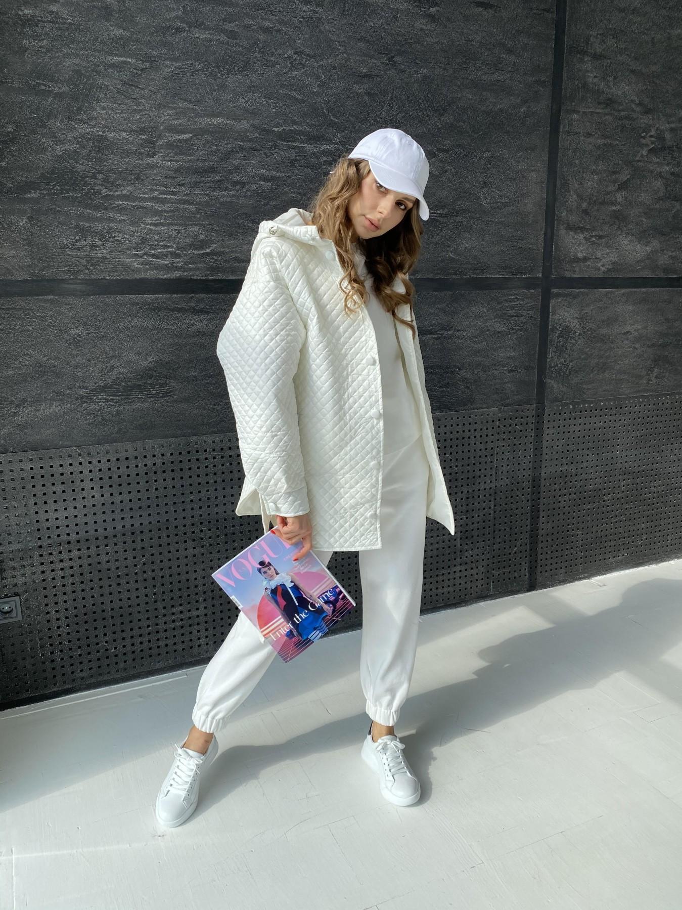 Пазл стеганая куртка из плащевой ткани  10933 АРТ. 47512 Цвет: Молоко - фото 6, интернет магазин tm-modus.ru