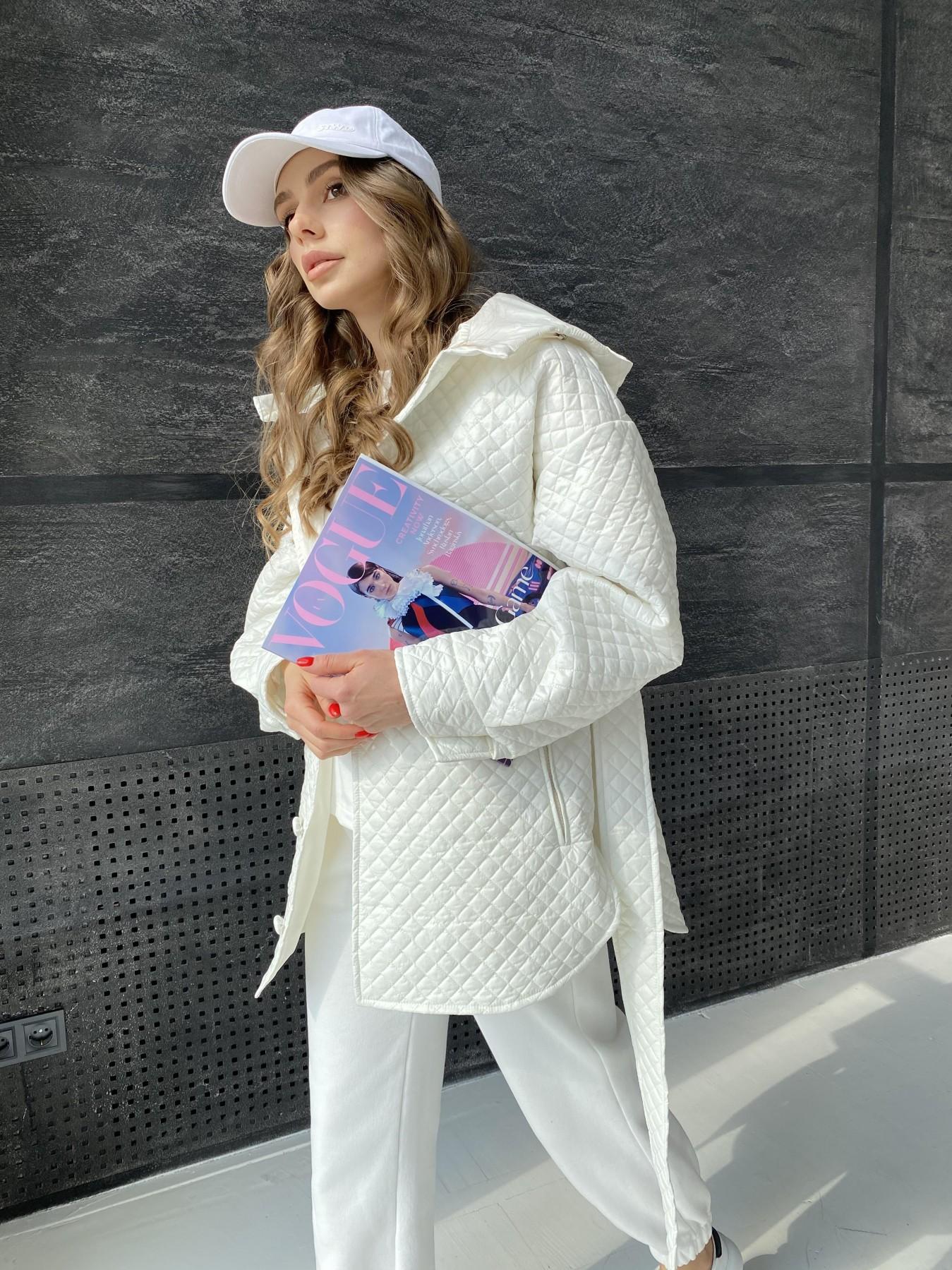 Пазл стеганая куртка из плащевой ткани  10933 АРТ. 47512 Цвет: Молоко - фото 7, интернет магазин tm-modus.ru