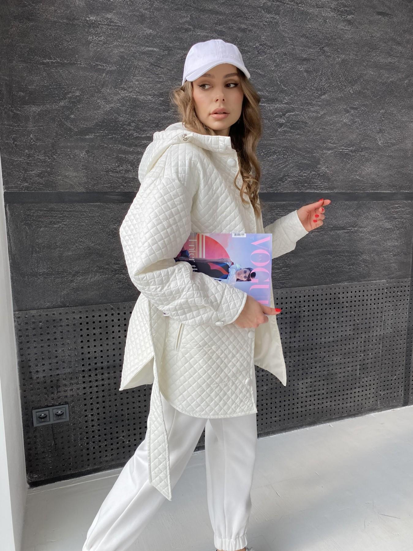 Пазл стеганая куртка из плащевой ткани  10933 АРТ. 47512 Цвет: Молоко - фото 8, интернет магазин tm-modus.ru