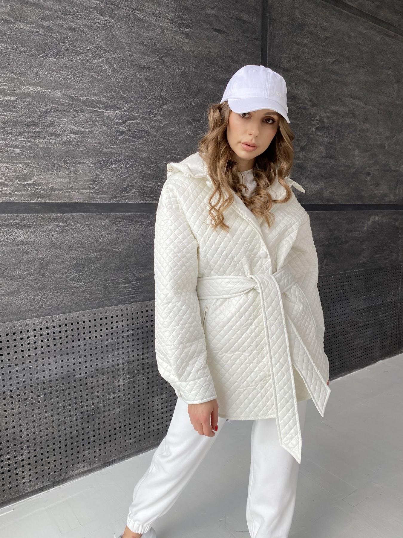 Пазл стеганая куртка из плащевой ткани  10933 АРТ. 47512 Цвет: Молоко - фото 9, интернет магазин tm-modus.ru