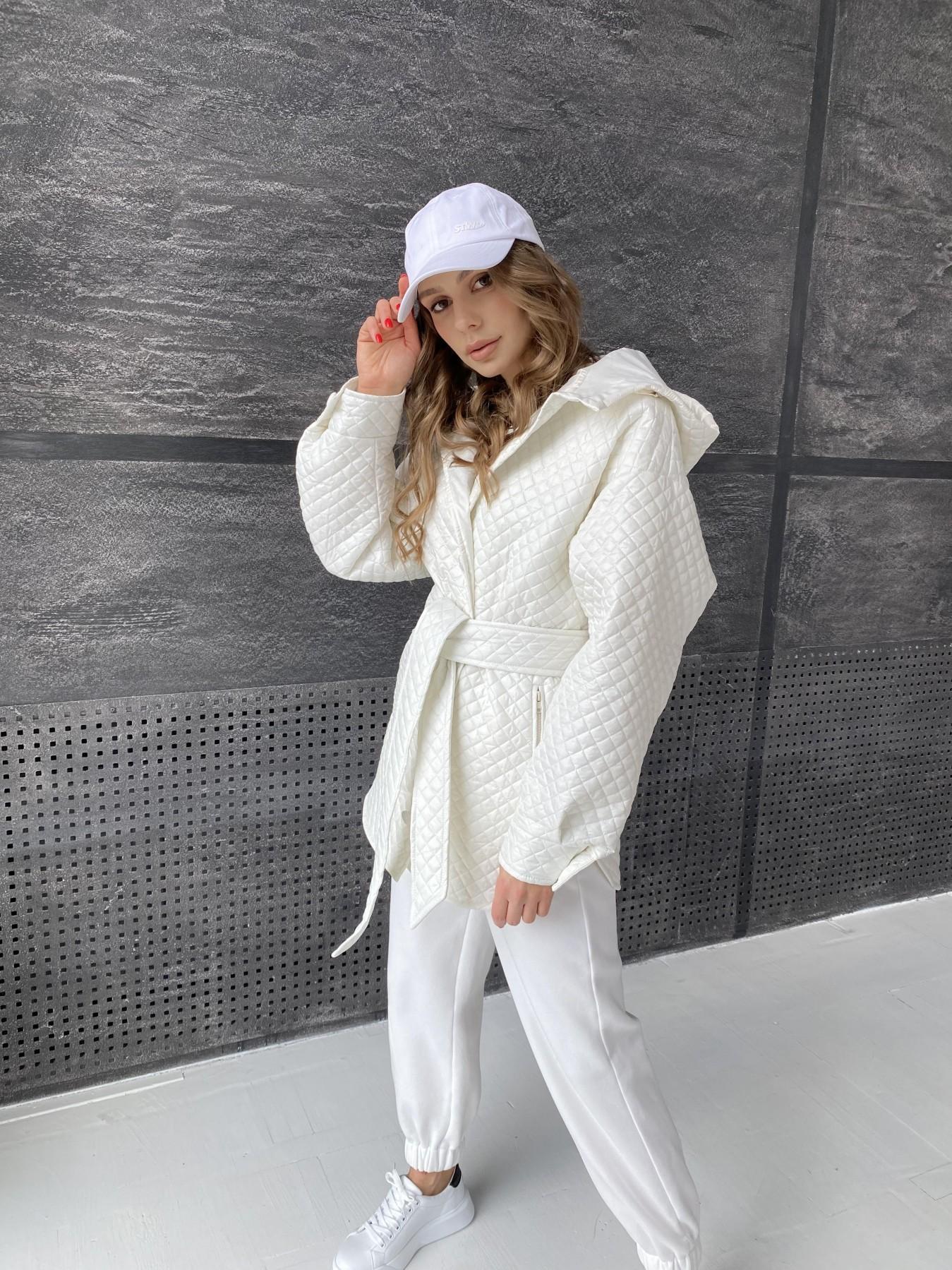Пазл стеганая куртка из плащевой ткани  10933 АРТ. 47512 Цвет: Молоко - фото 10, интернет магазин tm-modus.ru