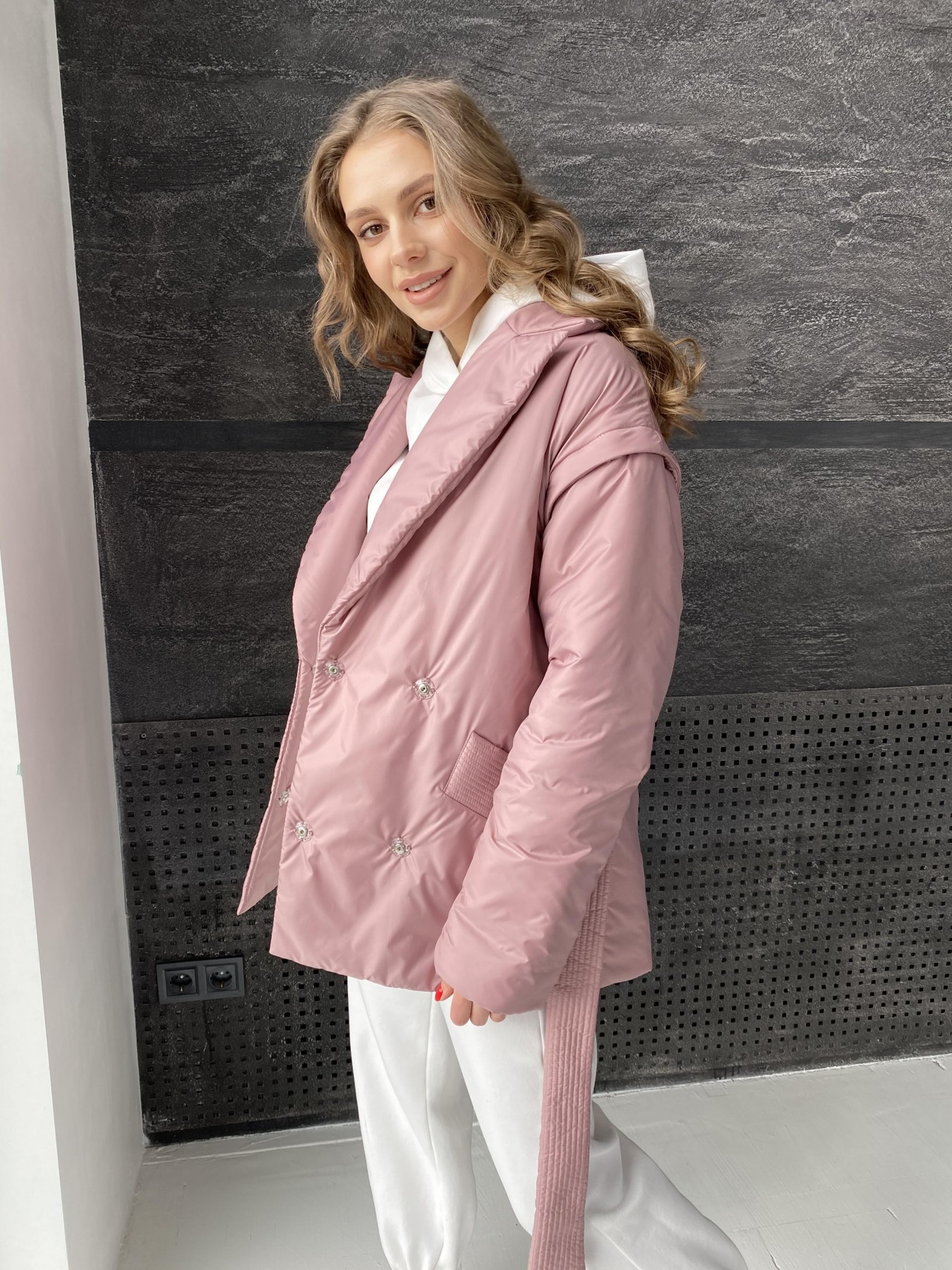 Форбс куртка из плащевой ткани 10986 АРТ. 47477 Цвет: Пудра - фото 1, интернет магазин tm-modus.ru