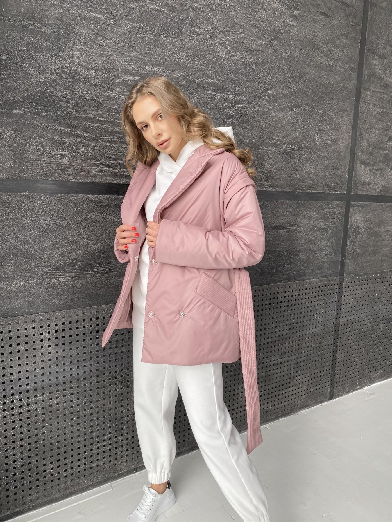 Форбс куртка из плащевой ткани 10986 АРТ. 47477 Цвет: Пудра - фото 6, интернет магазин tm-modus.ru