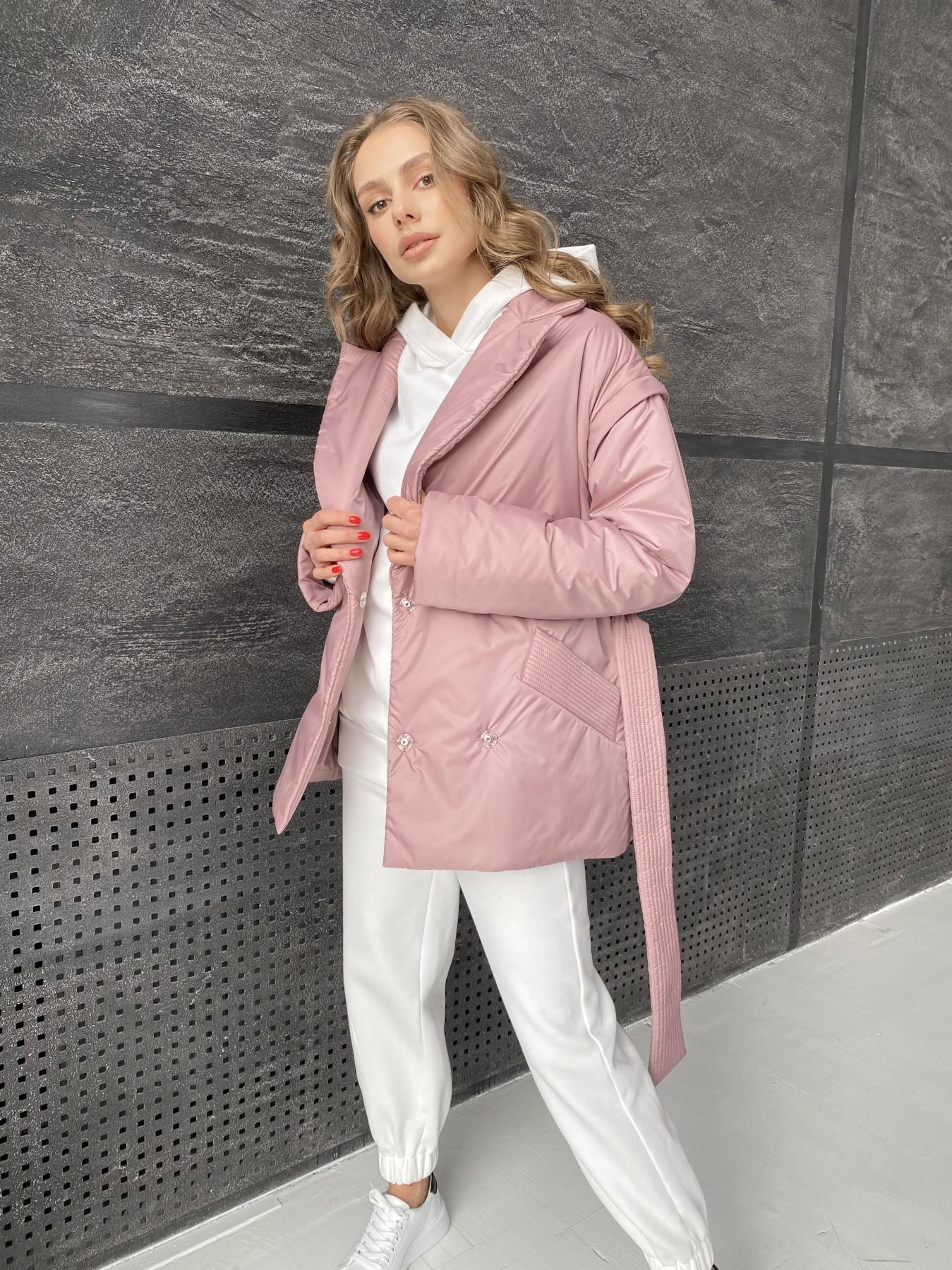 Форбс куртка из плащевой ткани 10986 АРТ. 47477 Цвет: Пудра - фото 8, интернет магазин tm-modus.ru