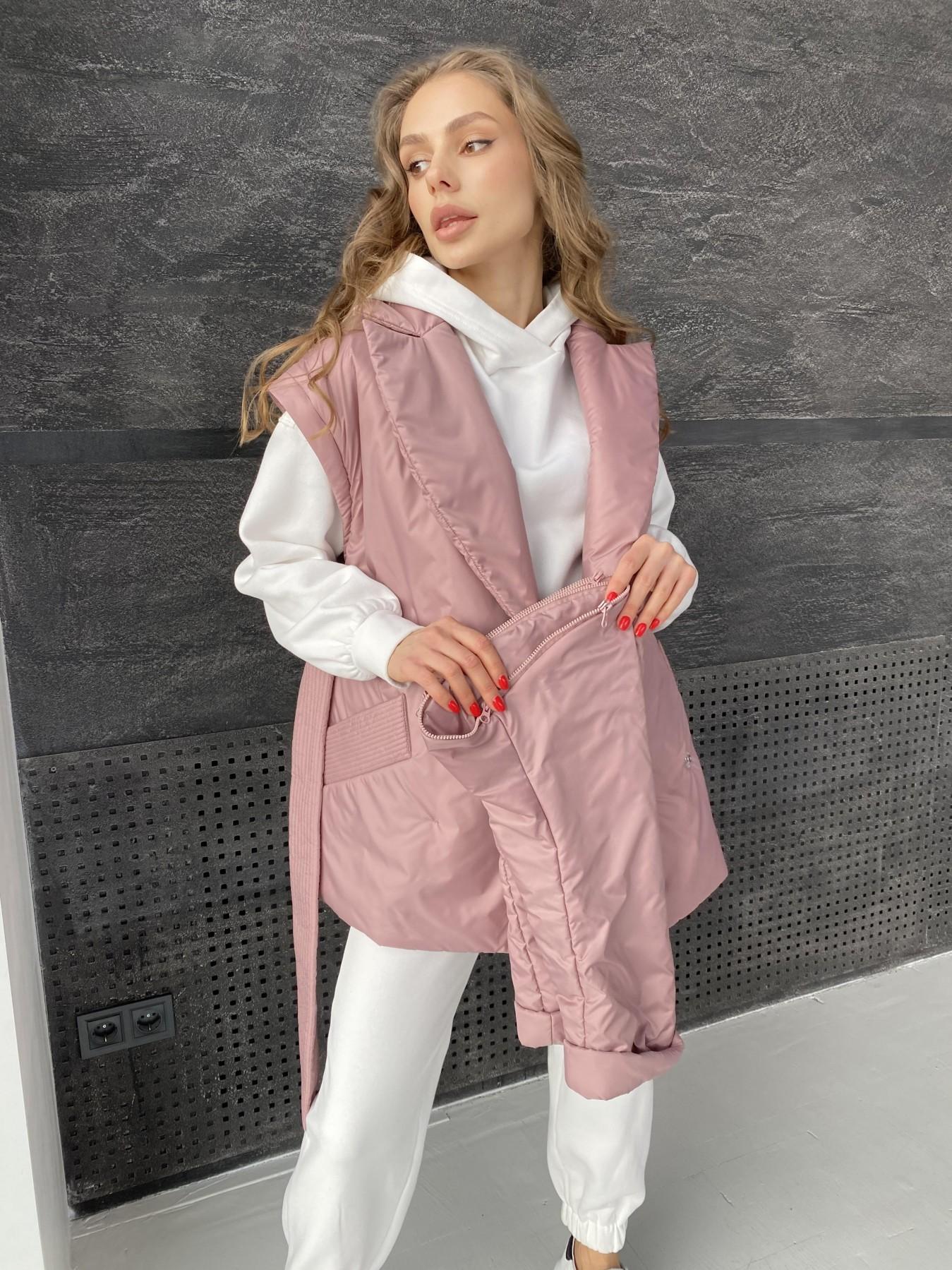 Форбс куртка из плащевой ткани 10986 АРТ. 47477 Цвет: Пудра - фото 12, интернет магазин tm-modus.ru