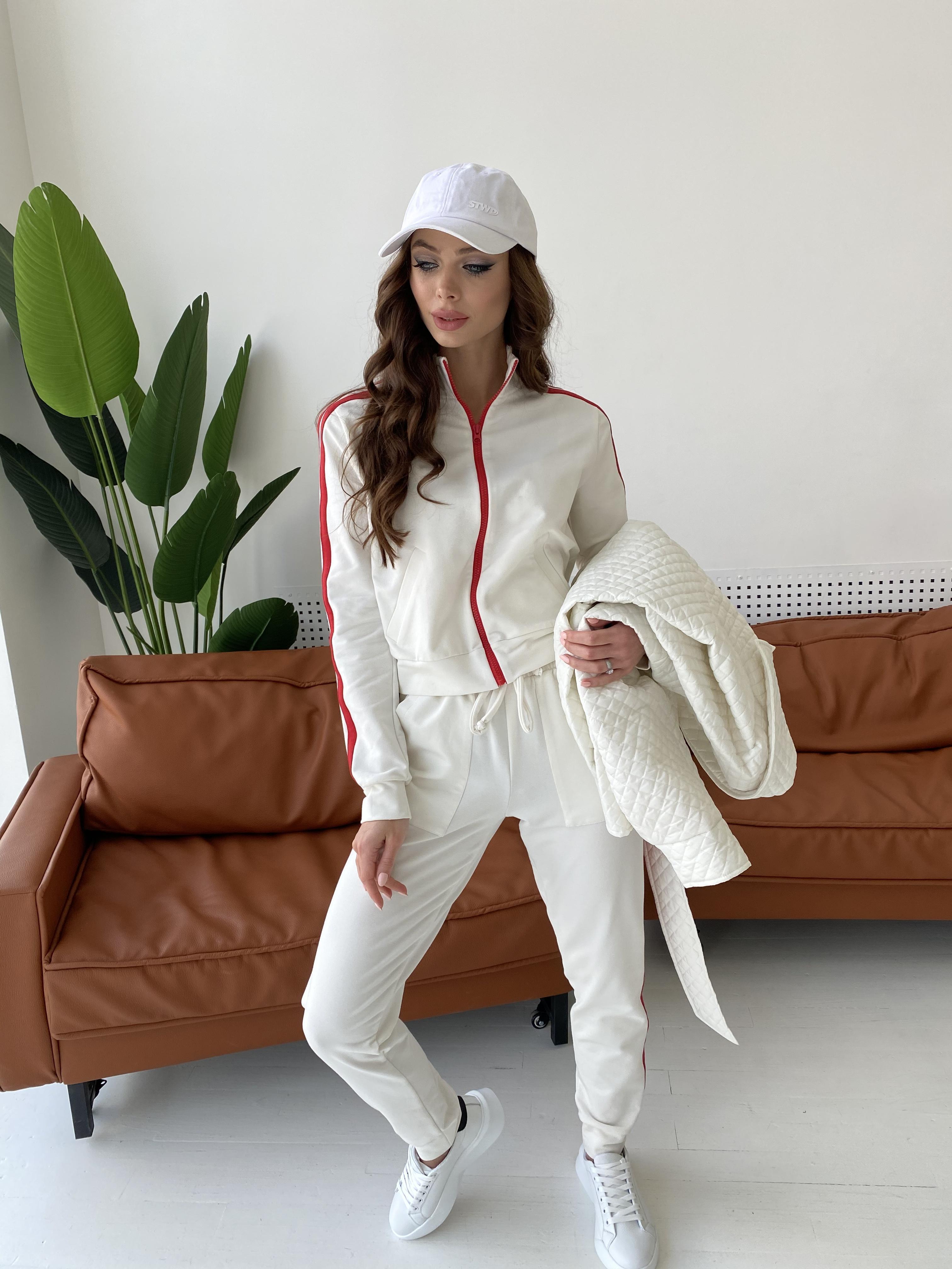 Камон костюм трикотажный из двунитки  9333 АРТ. 45761 Цвет: Молоко/красный - фото 3, интернет магазин tm-modus.ru