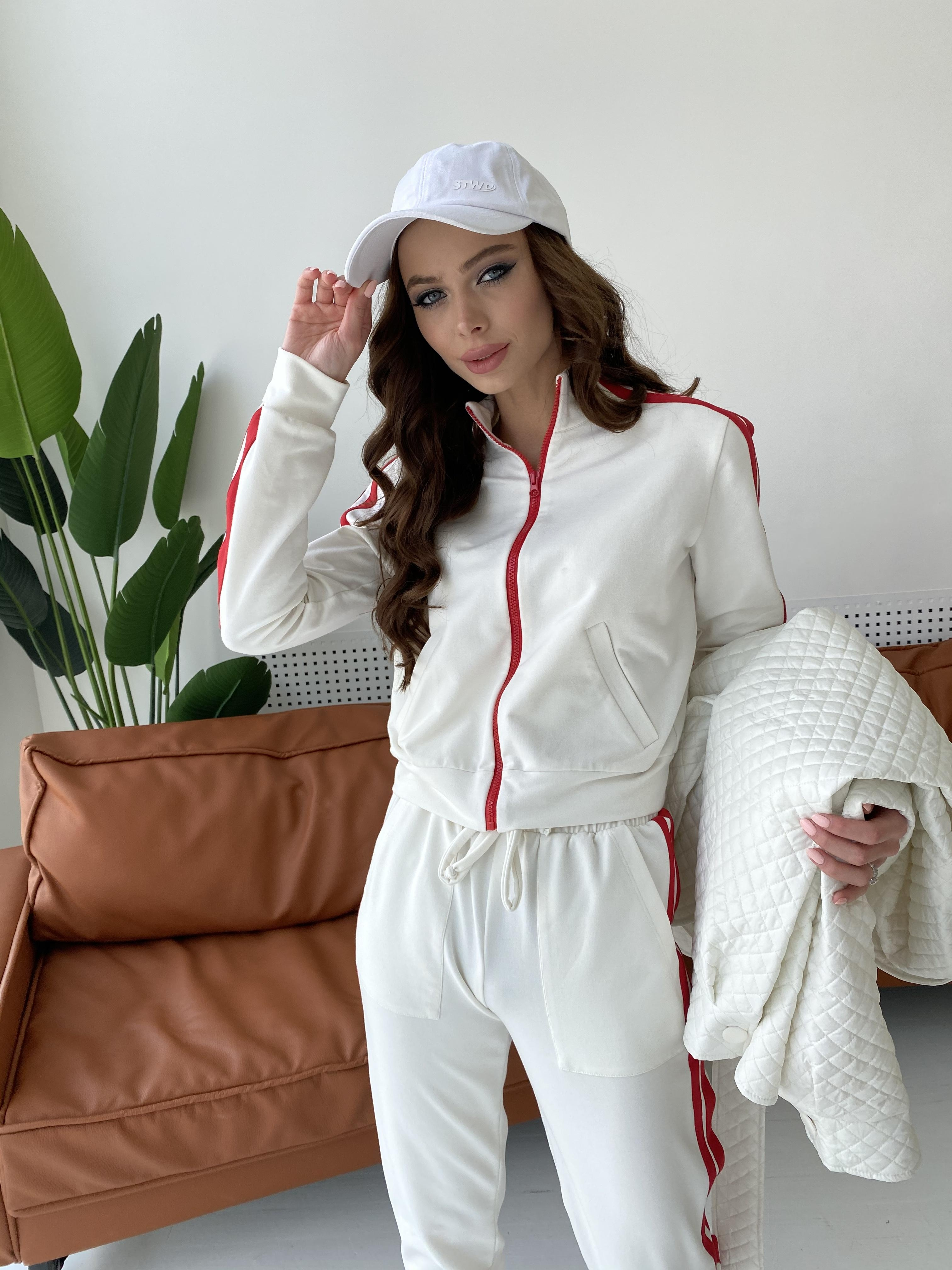 Камон костюм трикотажный из двунитки  9333 АРТ. 45761 Цвет: Молоко/красный - фото 4, интернет магазин tm-modus.ru